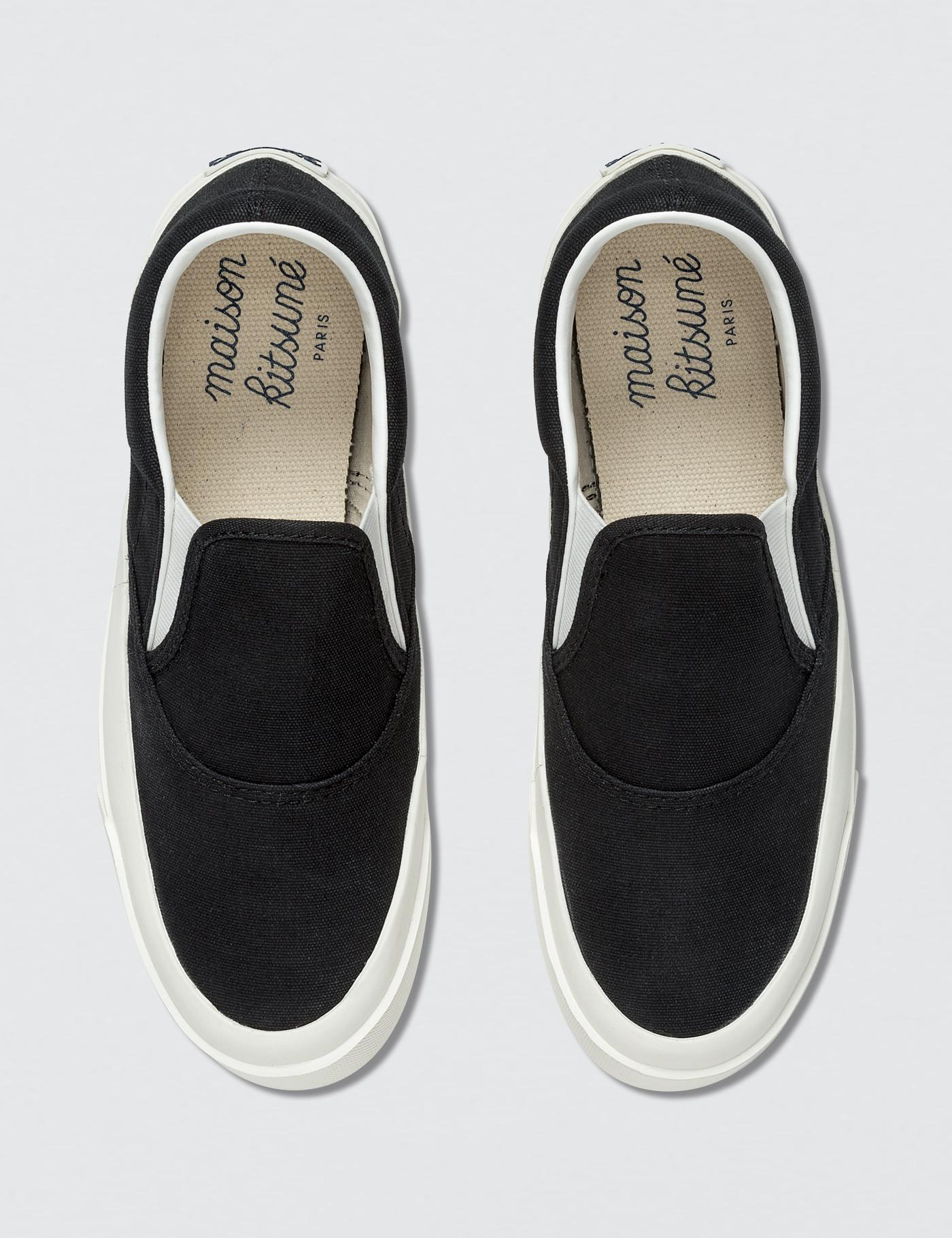 factory price 35261 18d16 maison-kitsune-Black-Par-Rec-Slip-on-Sneaker.jpeg