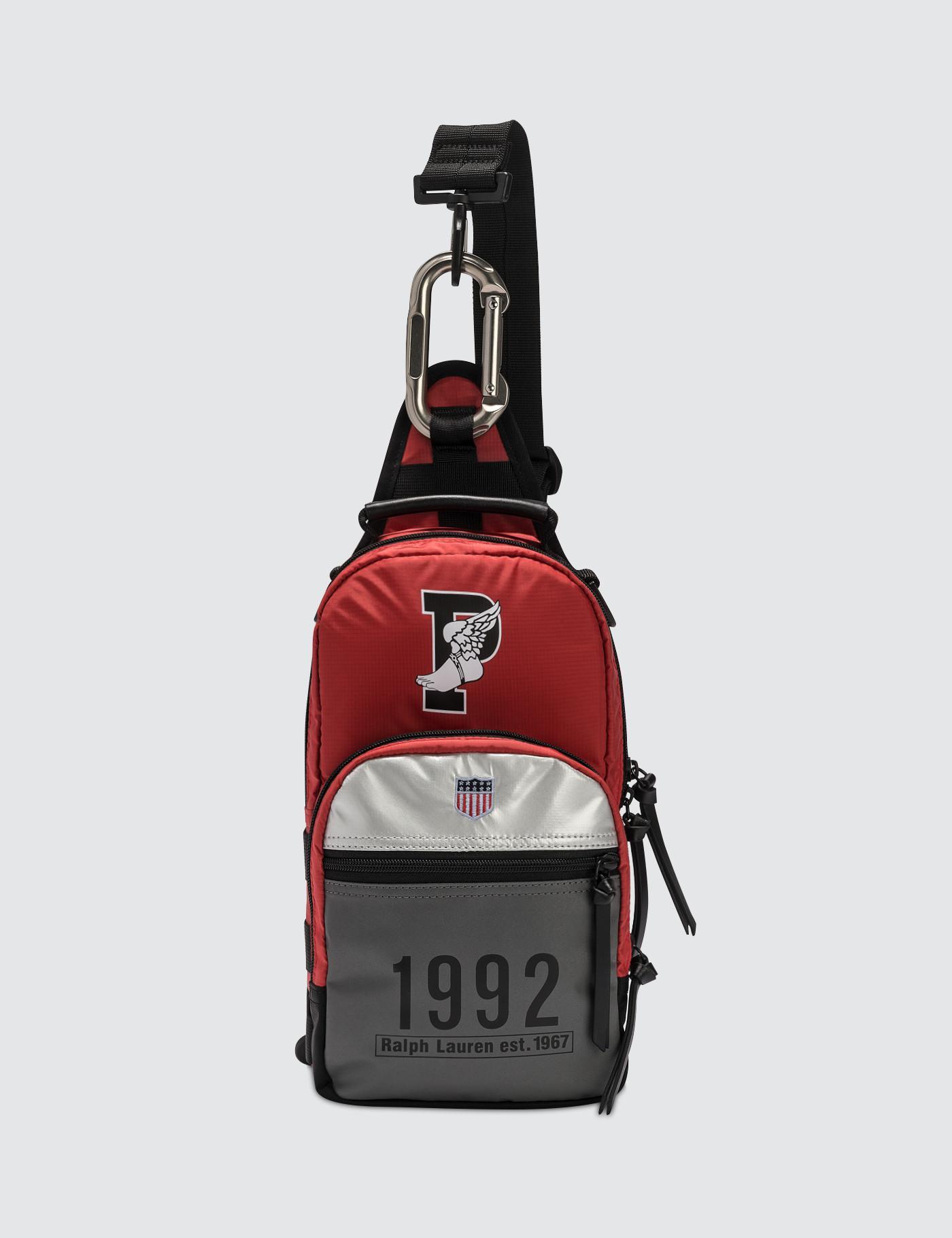 Lyst - Polo Ralph Lauren Medium Stadium Cross-body Nylon Bag in Red ... 4e5cccc895fdc