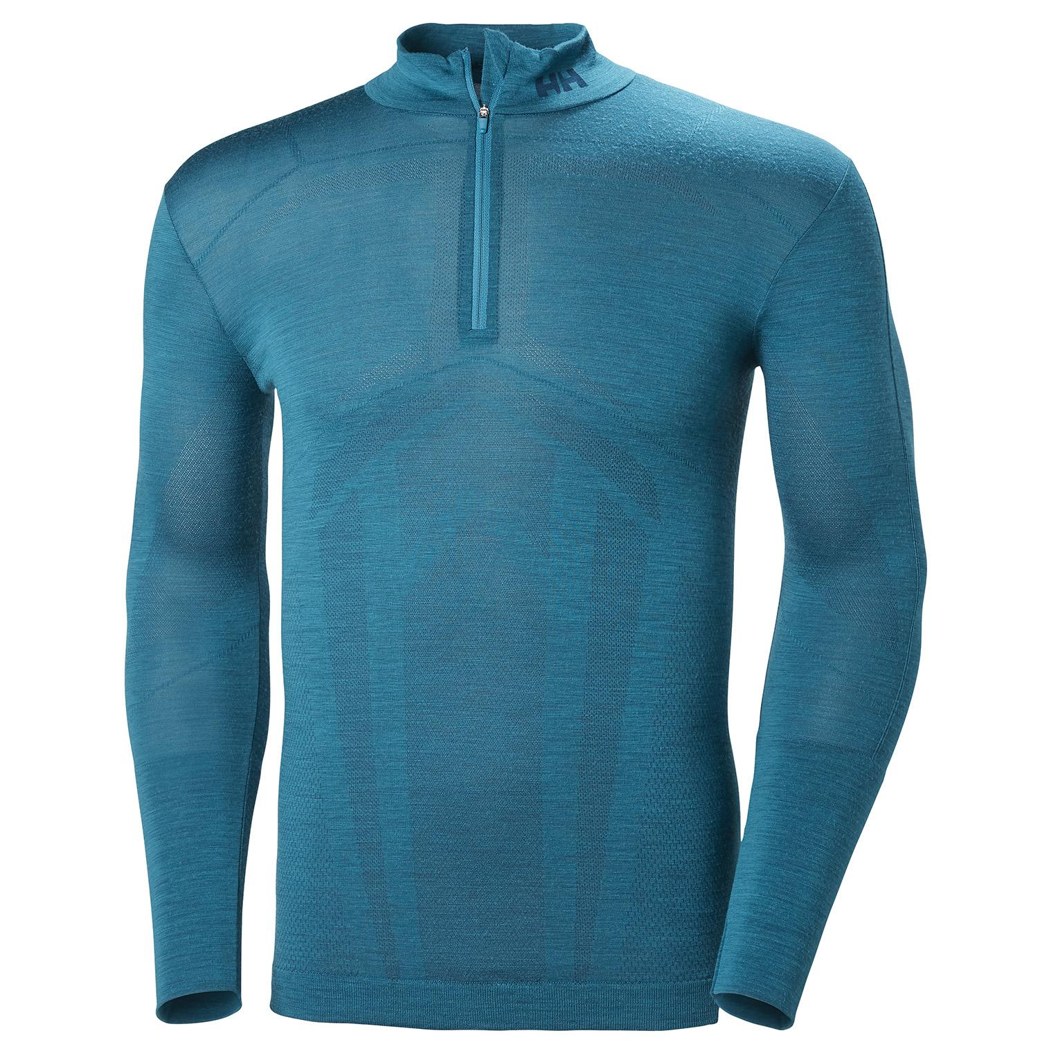 7ab14bc54d9a Lyst - Helly Hansen Hh Lifa Merino Seamless 1 2 Zi in Blue for Men