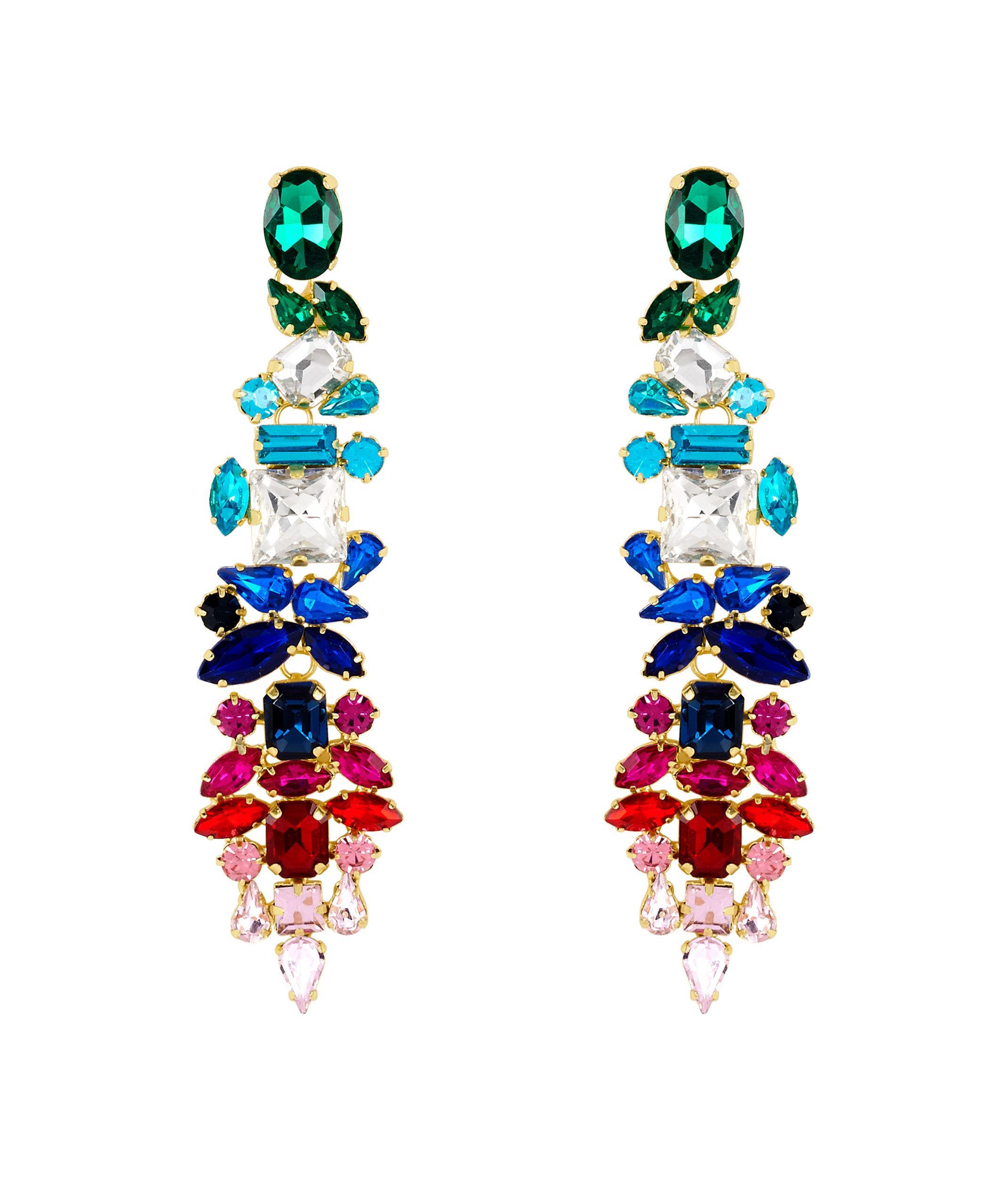 Lyst henri bendel stella ruby multicolored chandelier earring gallery arubaitofo Gallery