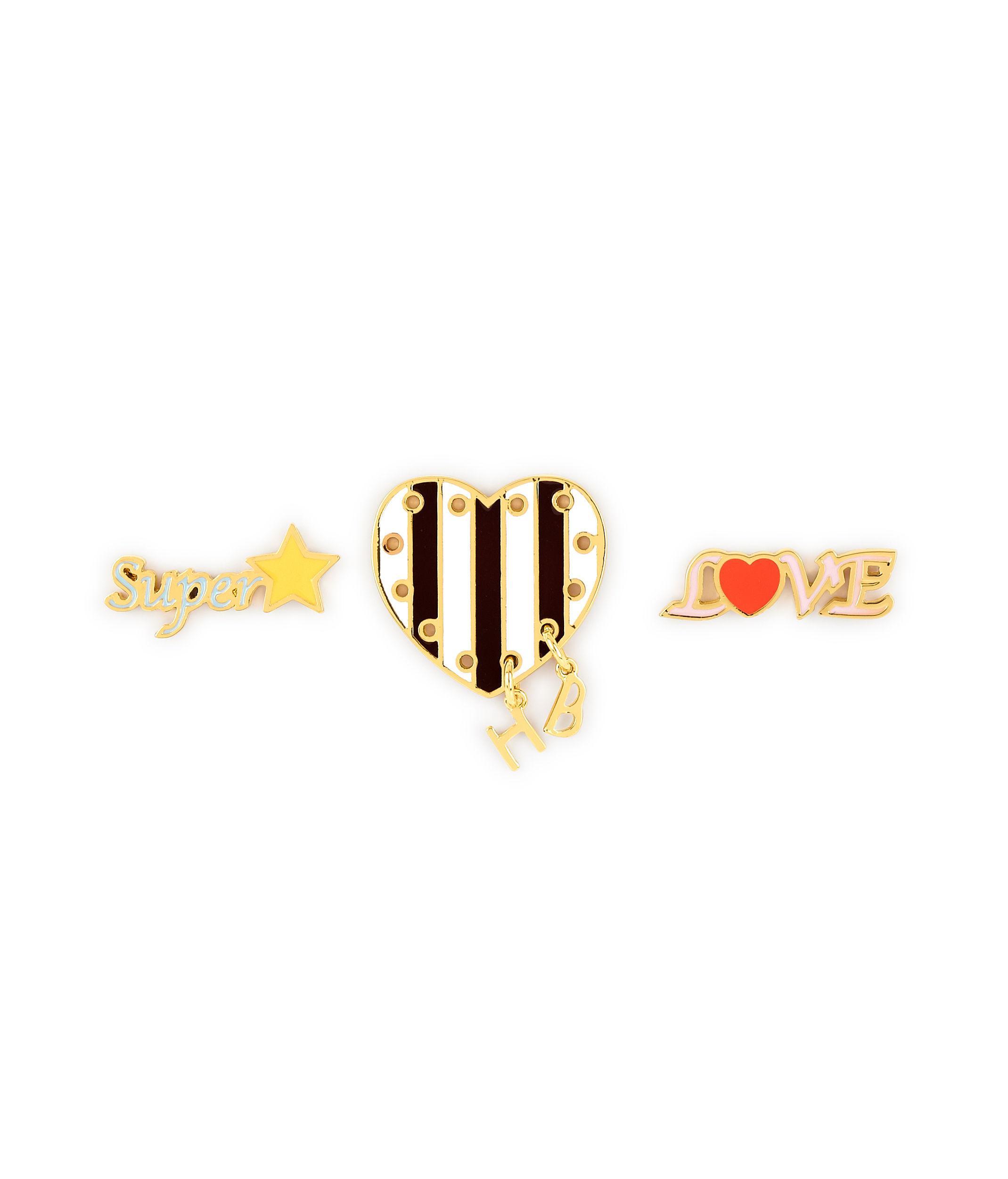 Henri Bendel Stars & Heart Crystal Pin Set kieKQR2fQJ