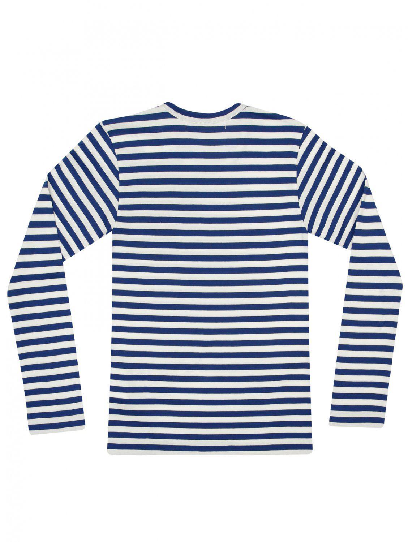 56be429516a4 Comme des Garçons - Play Womens Striped L s T-shirt Bright Blue -. View  fullscreen