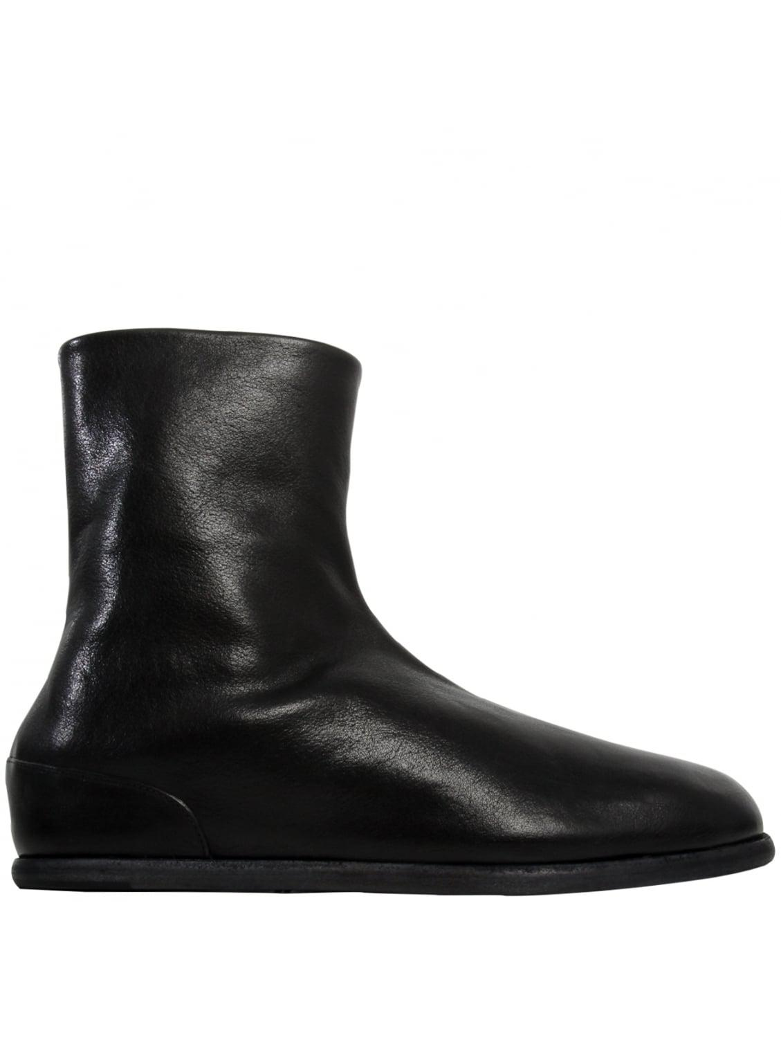 maison margiela tabi leather ankle boots black in black lyst