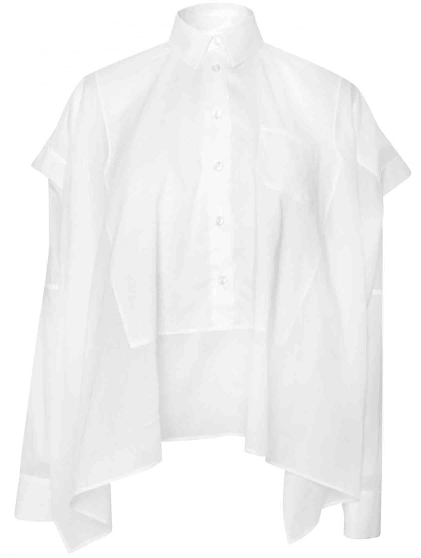 Lyst maison margiela white button down oxford shirt cape for White button down oxford shirt