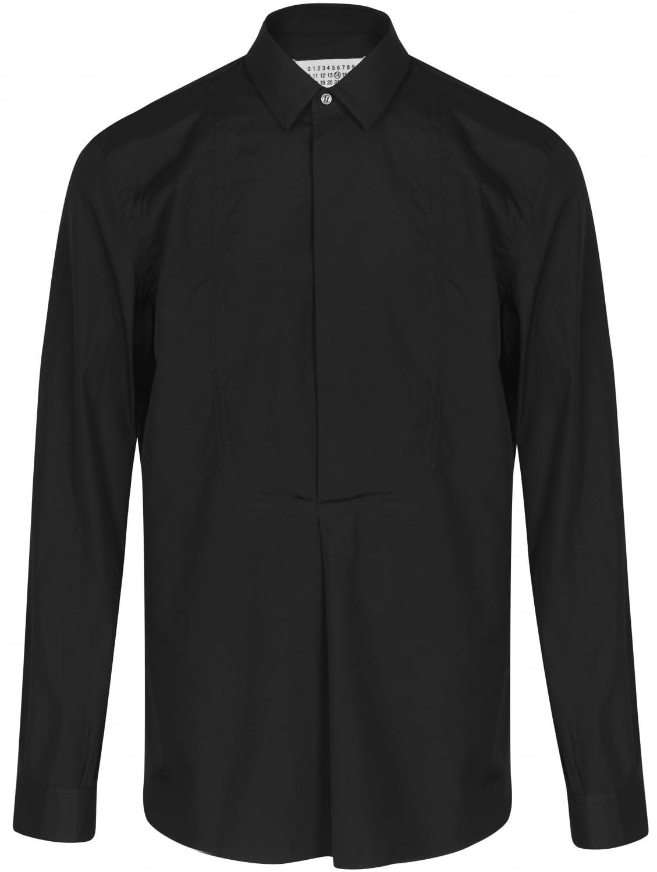 Maison margiela classic black tuxedo shirt in black for for Tuxedo shirt black buttons