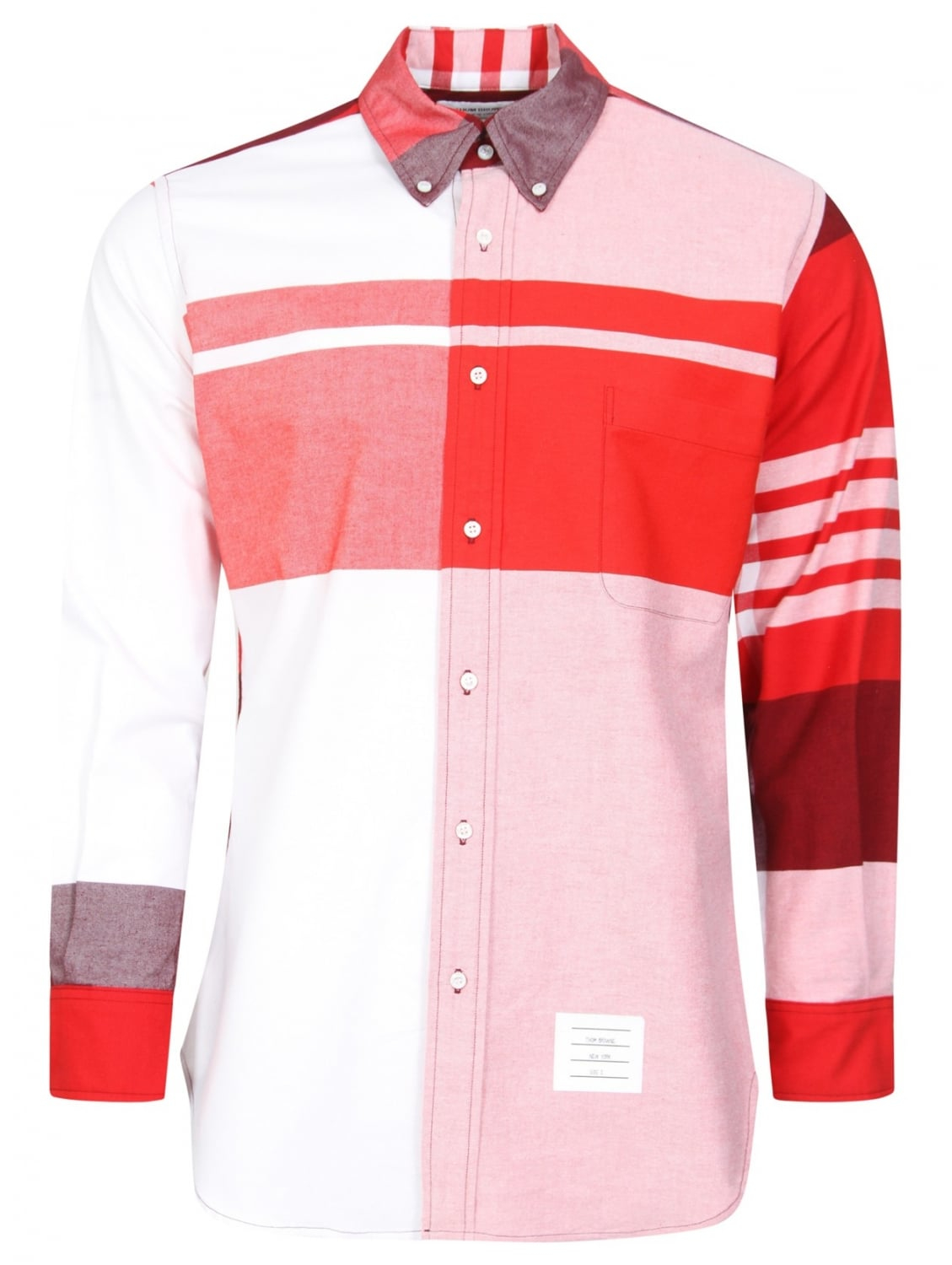 Thom Browne Classic Large Plaid Shirt Red In Red For Men