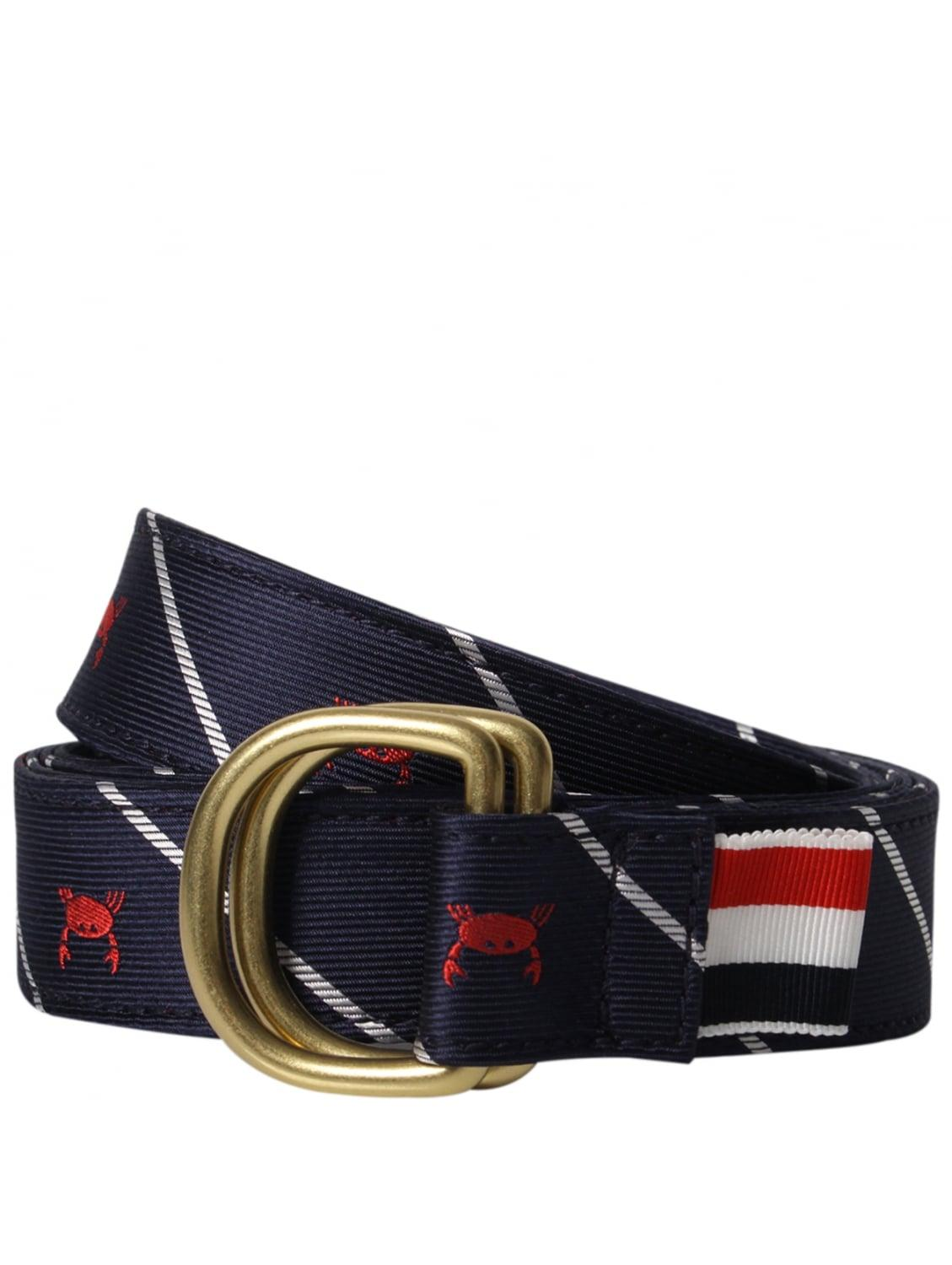 thom browne crab silk ring belt navy in blue for lyst