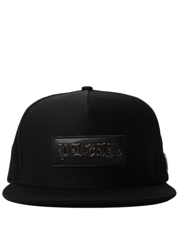philipp plein deland logo baseball cap black in black for men lyst. Black Bedroom Furniture Sets. Home Design Ideas