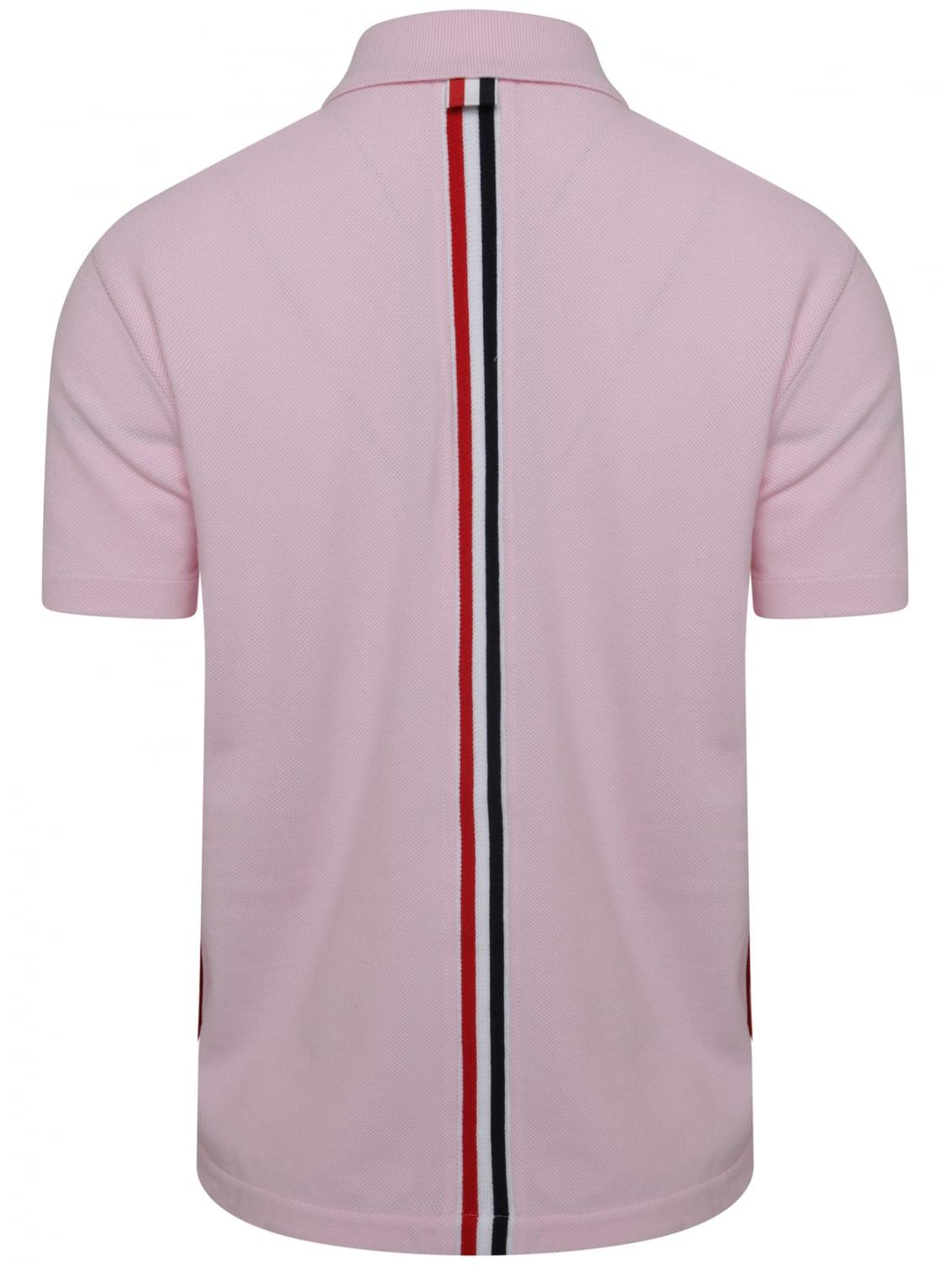 29daac103b4 Thom Browne Relaxed Fit Rwb Back Stripe S/s Polo Shirt Light Pink in ...