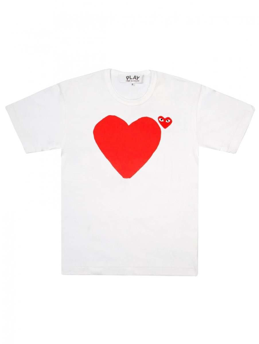 7cf4e30c2dc3 Lyst - COMME DES GARÇONS PLAY P1t222 Play Men T Multi Heart in White