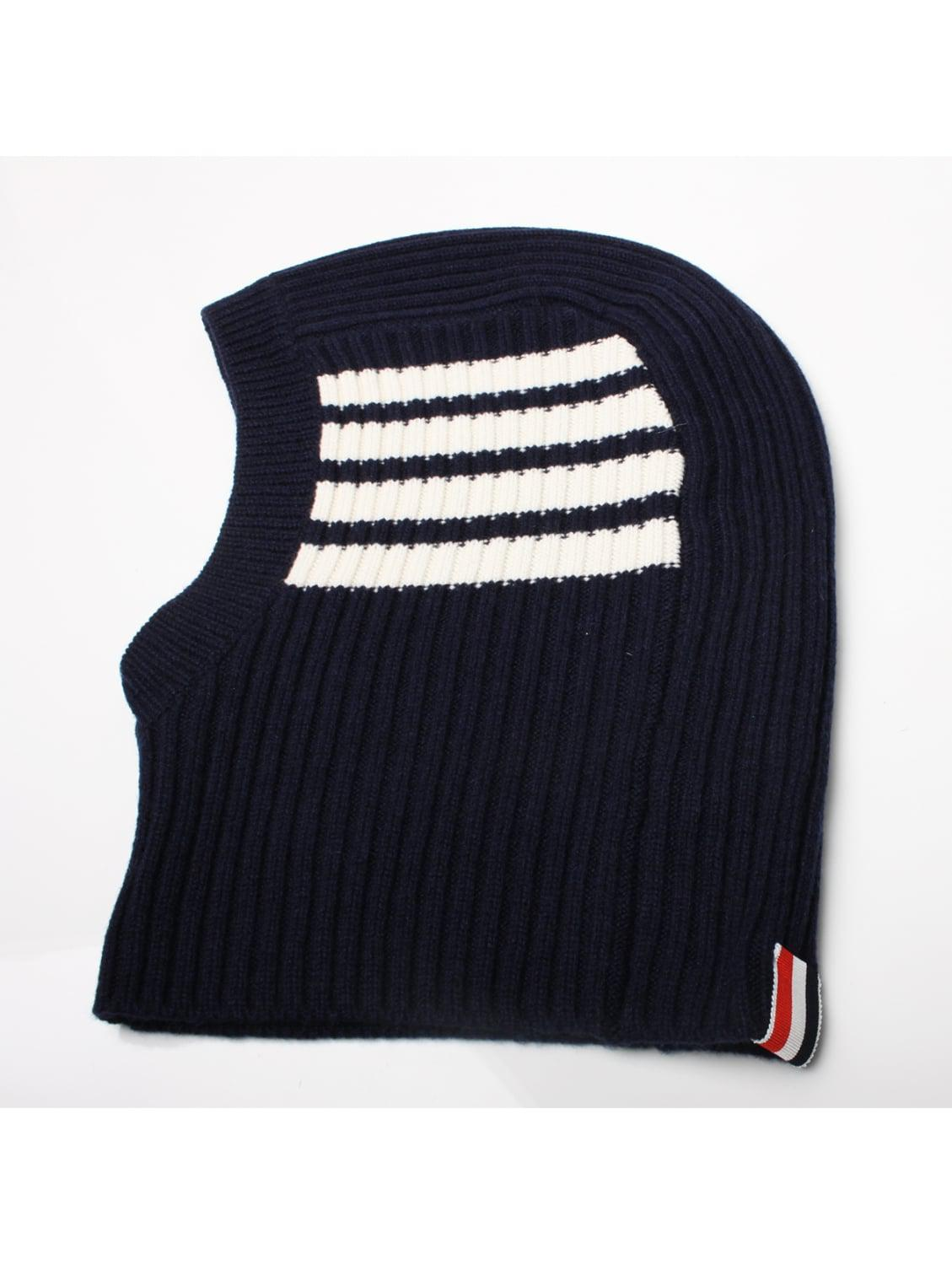 Thom Browne Bar Stripe Cashmere Balaclava Navy in Blue for Men - Lyst d505e798fed4