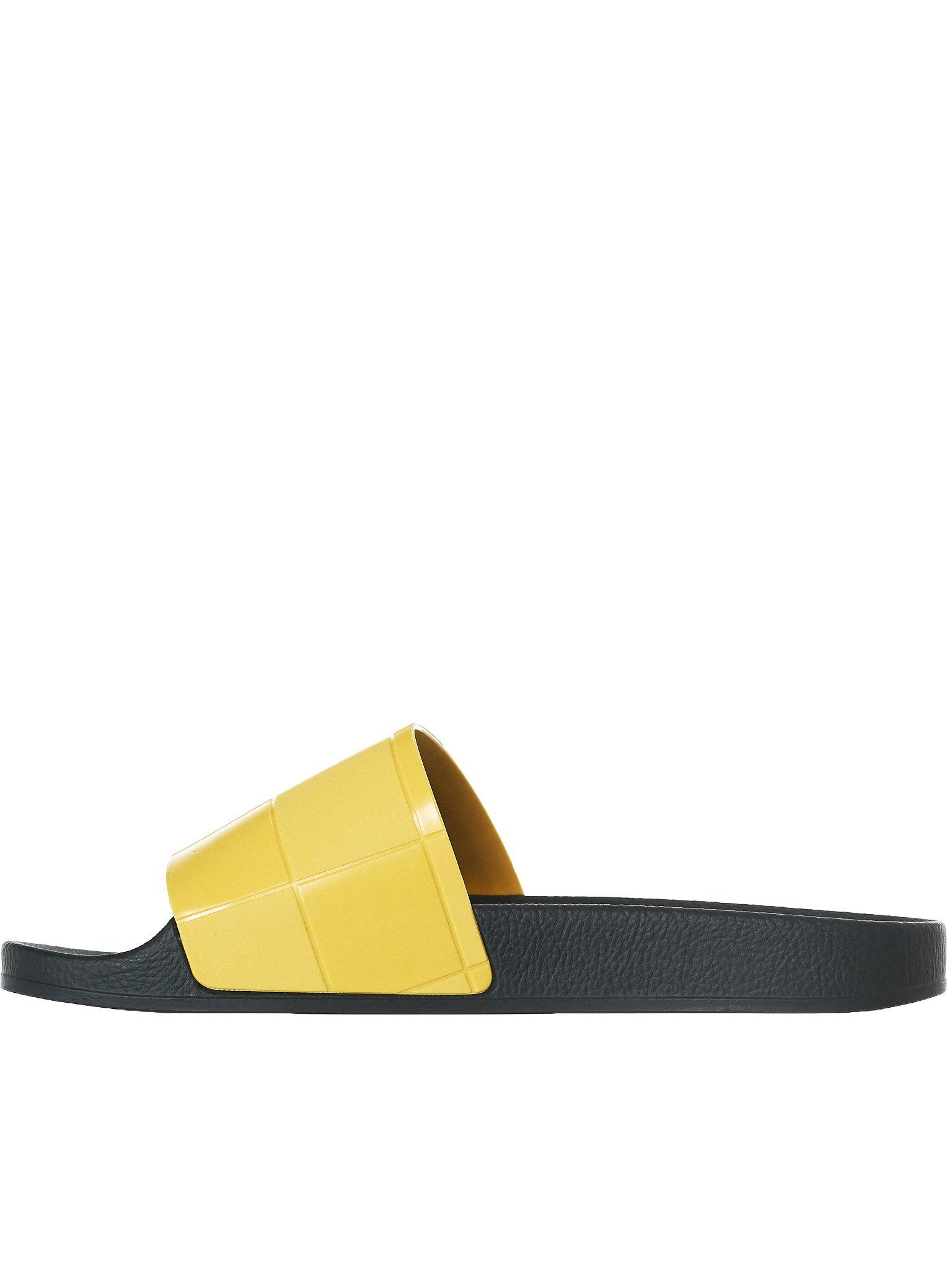 9febc09e276 Lyst - Raf Simons Adilette Checkerboard Slides in Yellow for Men