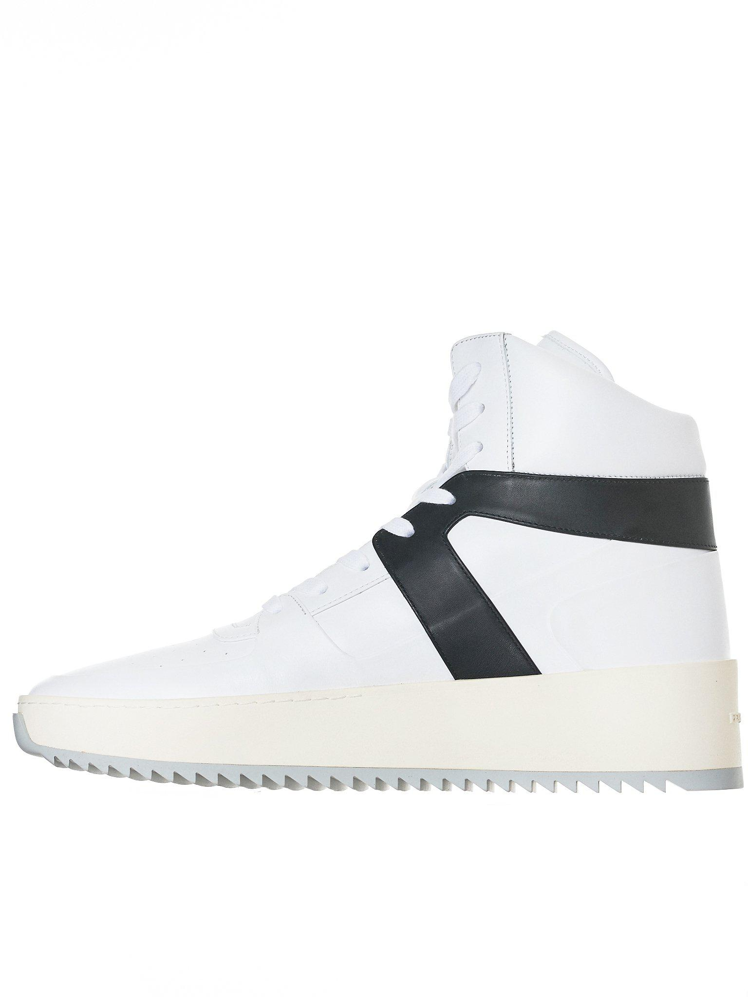 Basketball Panelled Leather High-top Sneakers - WhiteFear of God cW5qa5wuY