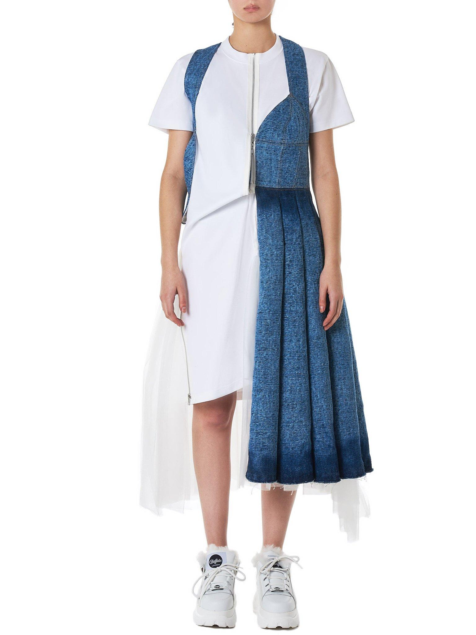 01e7a4db80f Lyst - Junya Watanabe T-shirt Dress in Blue - Save 13%
