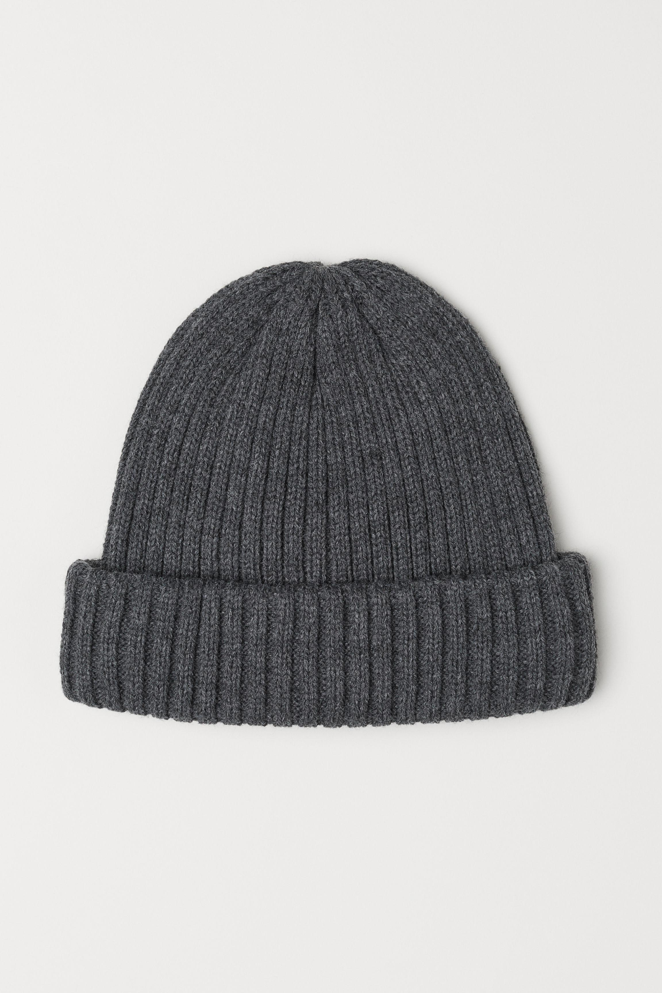 3e9a504aba835 Lyst - H M Rib-knit Hat in Gray for Men