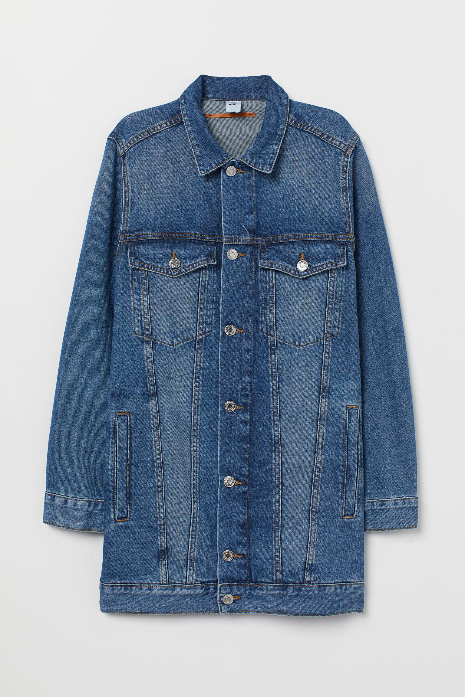 style distinctif détaillant obtenir de nouveaux Longue veste en jean femme de coloris bleu