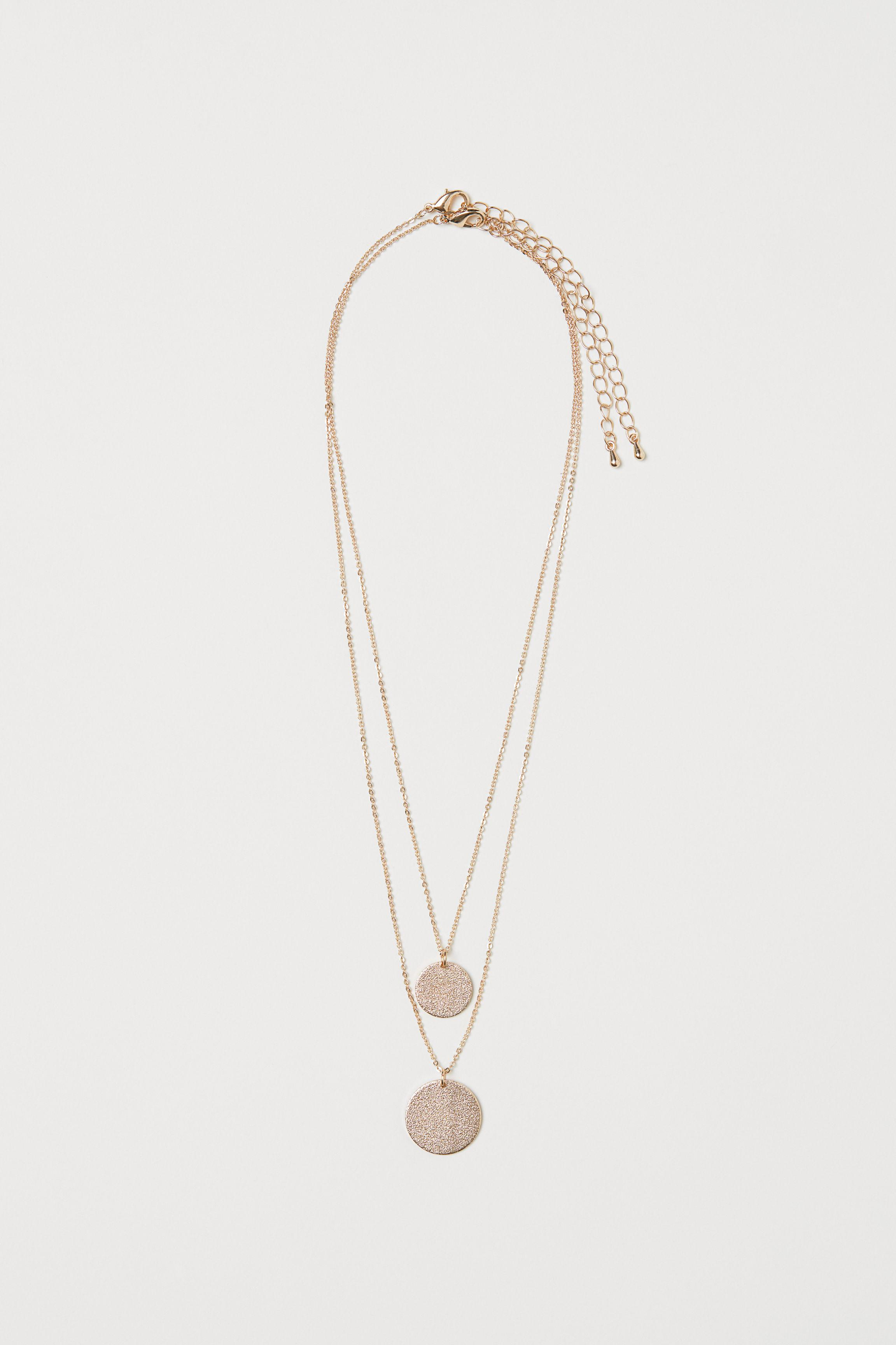 0046364fe11 Lyst - H&M 2-pack Necklaces in Metallic