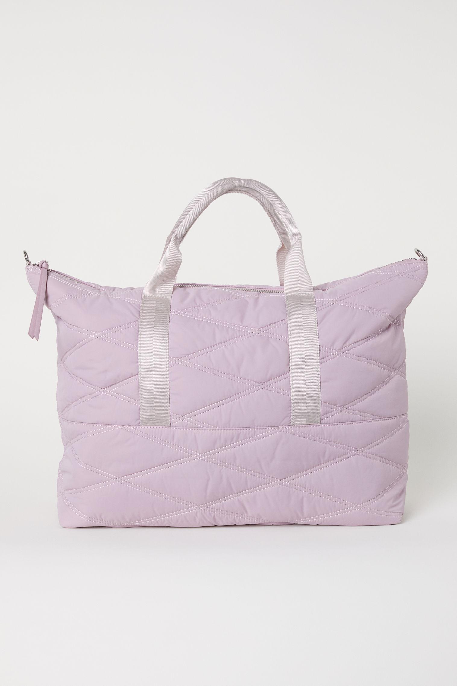 7e9dc186e20cb H M Gesteppte Weekendbag in Pink - Lyst