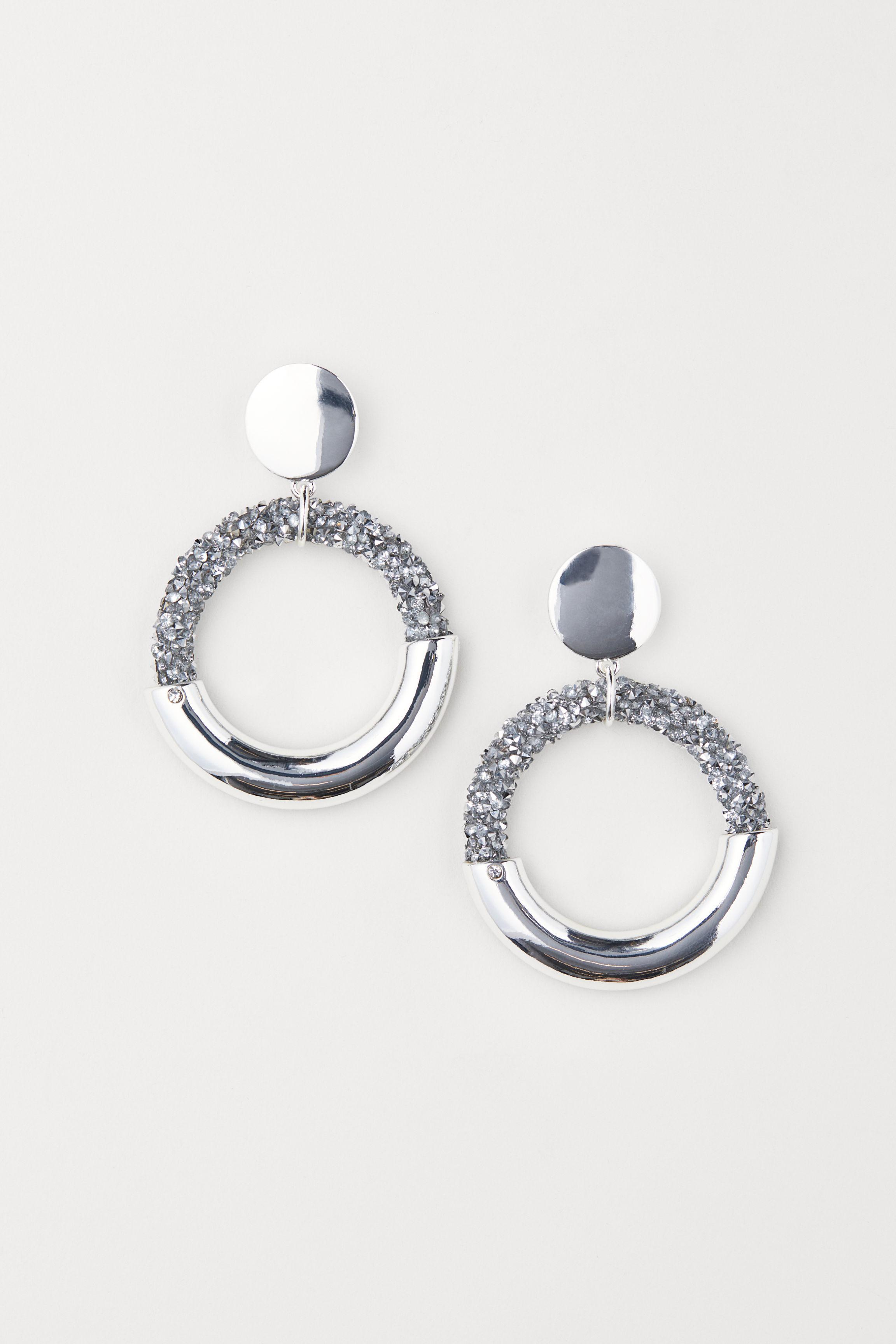 12a69c9bd H&M - Metallic Hoop Earrings - Lyst. View fullscreen