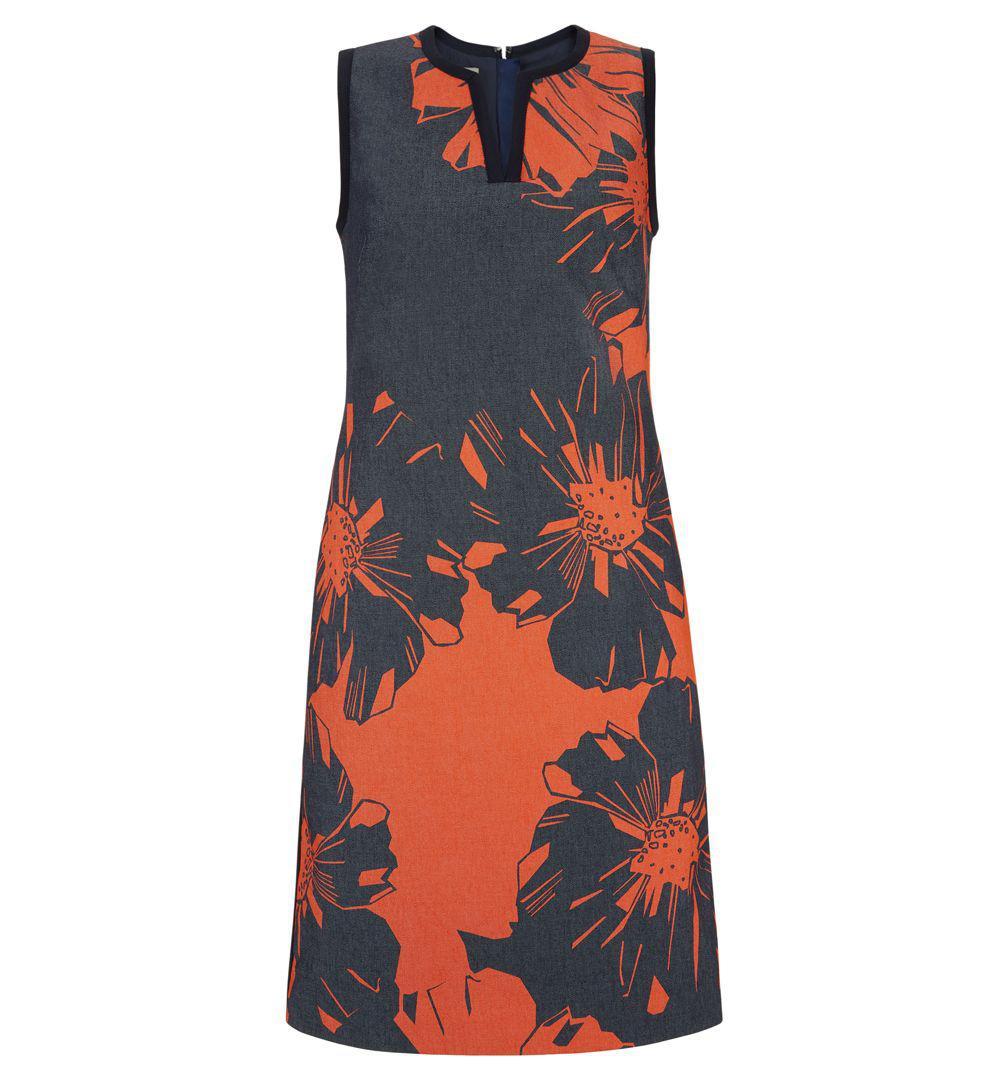 9c19fc59264c17 Hobbs Navy  sita  Dress in Blue - Lyst