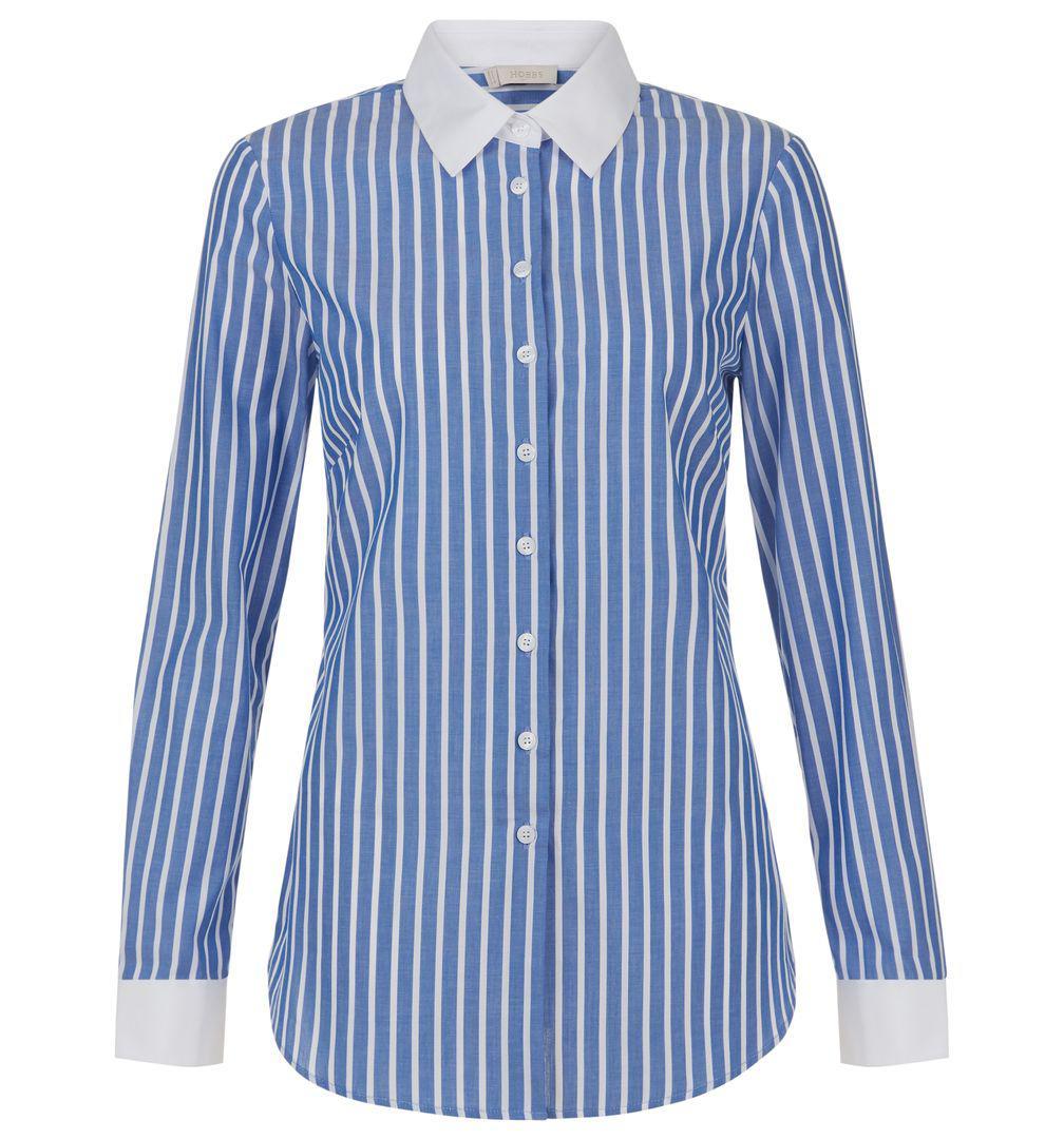 c4029e075b9173 Hobbs Annabella Shirt in Blue - Lyst