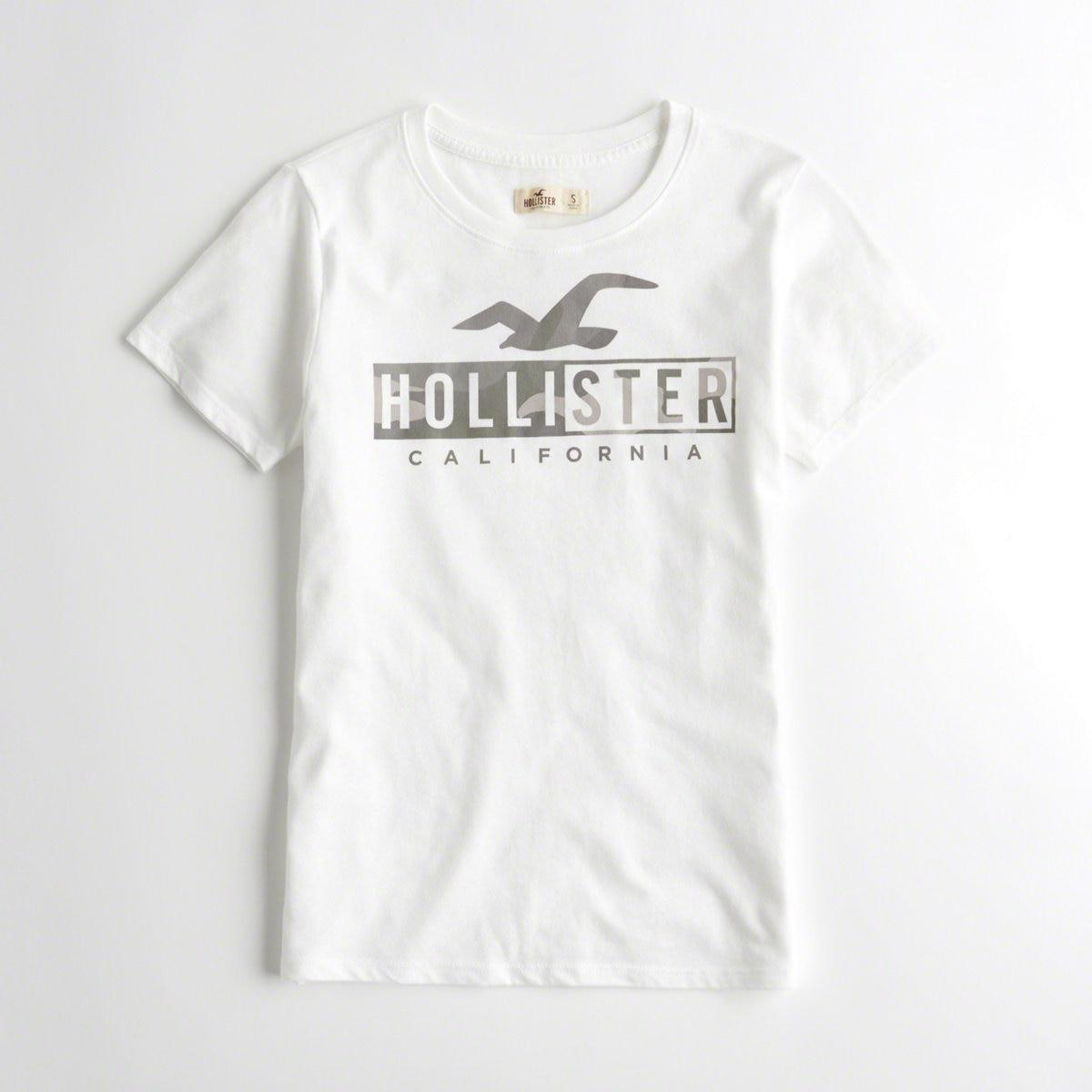 7064a7d2 Lyst - Hollister Girls Print Logo Graphic Tee From Hollister in ...