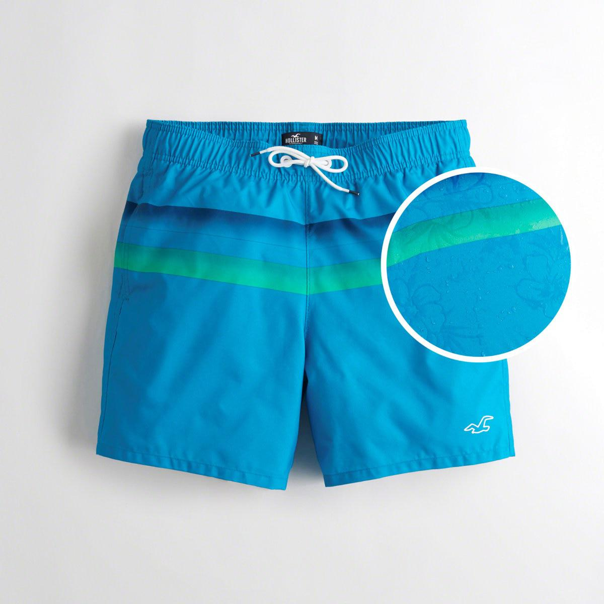 7b634dc0b1 Lyst - Hollister Guys Guard Fit Swim Trunks From Hollister in Blue ...