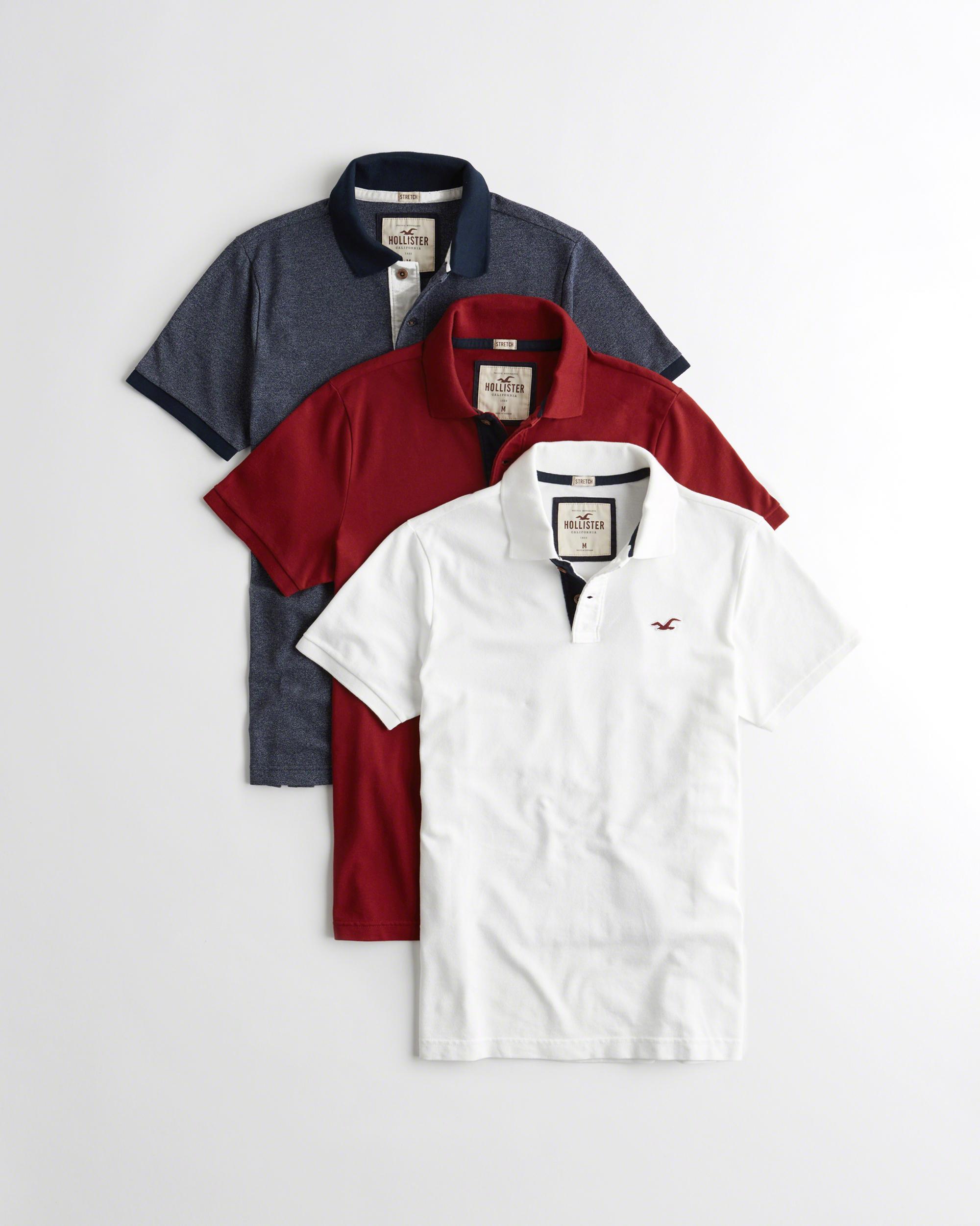 Lyst Hollister Polo 3 Pack Gift Set For Men