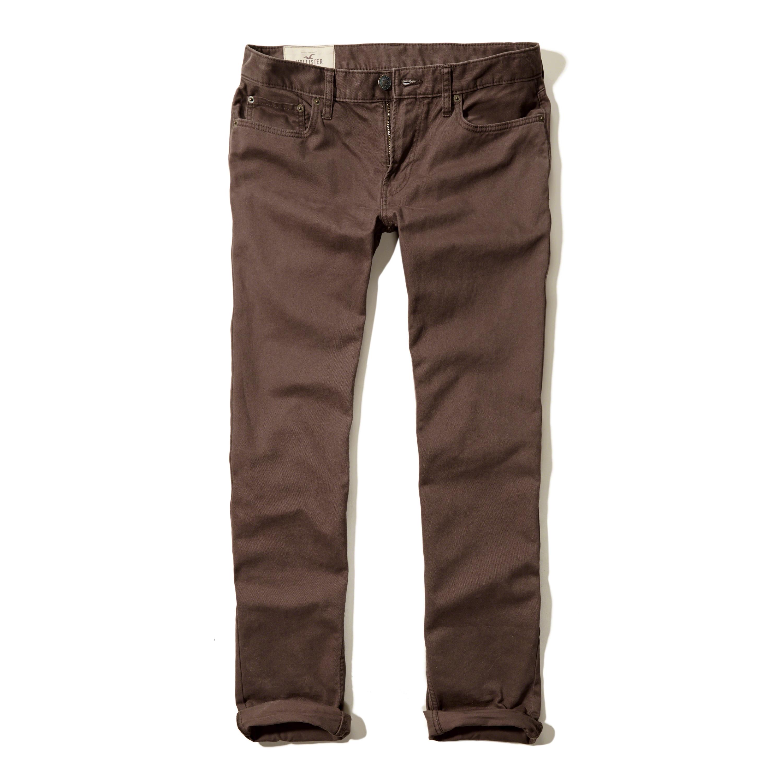Hollister Skinny 5 Pocket Zipper Fly Pants for Men | Lyst