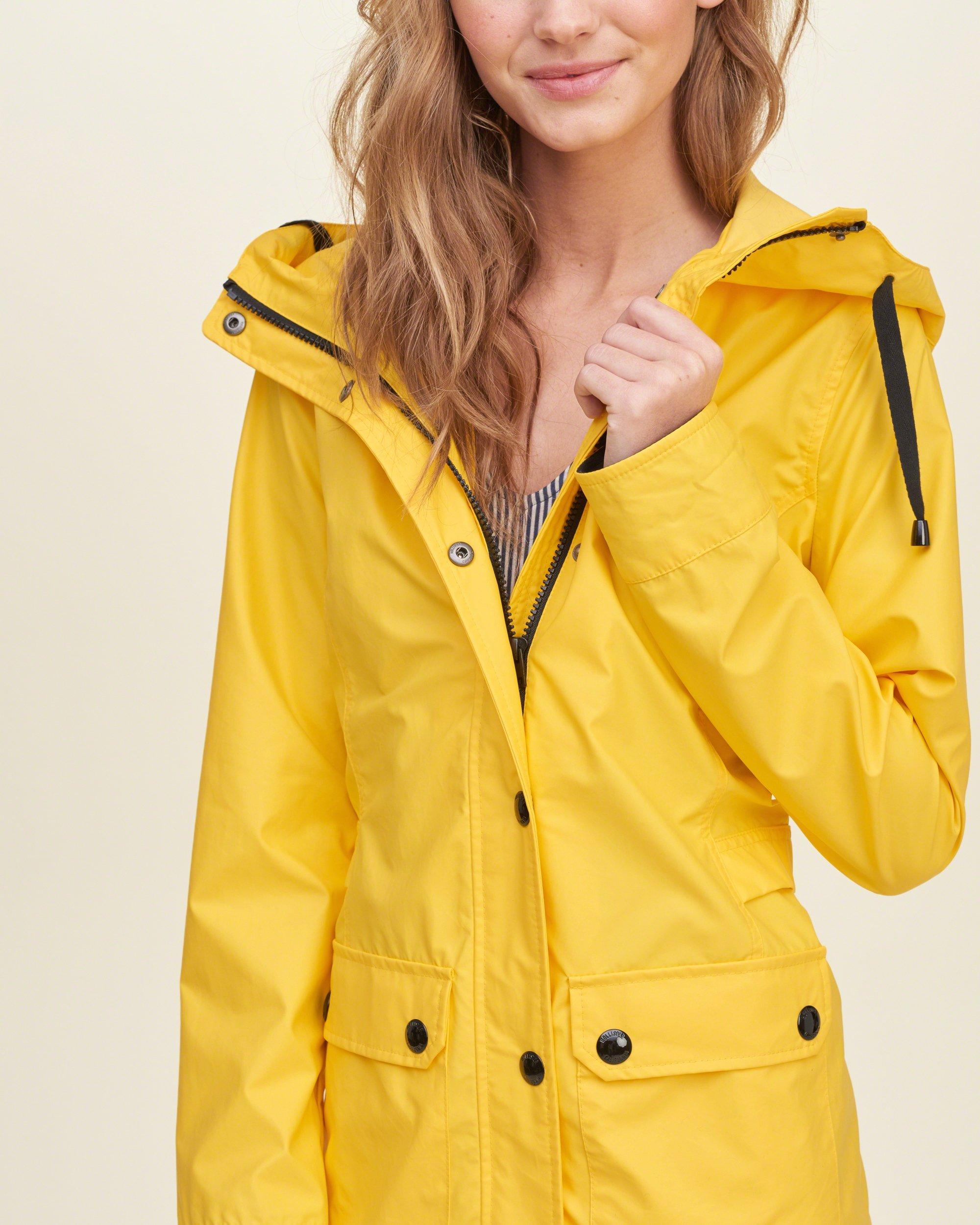 Yellow Rain Jacket Women S