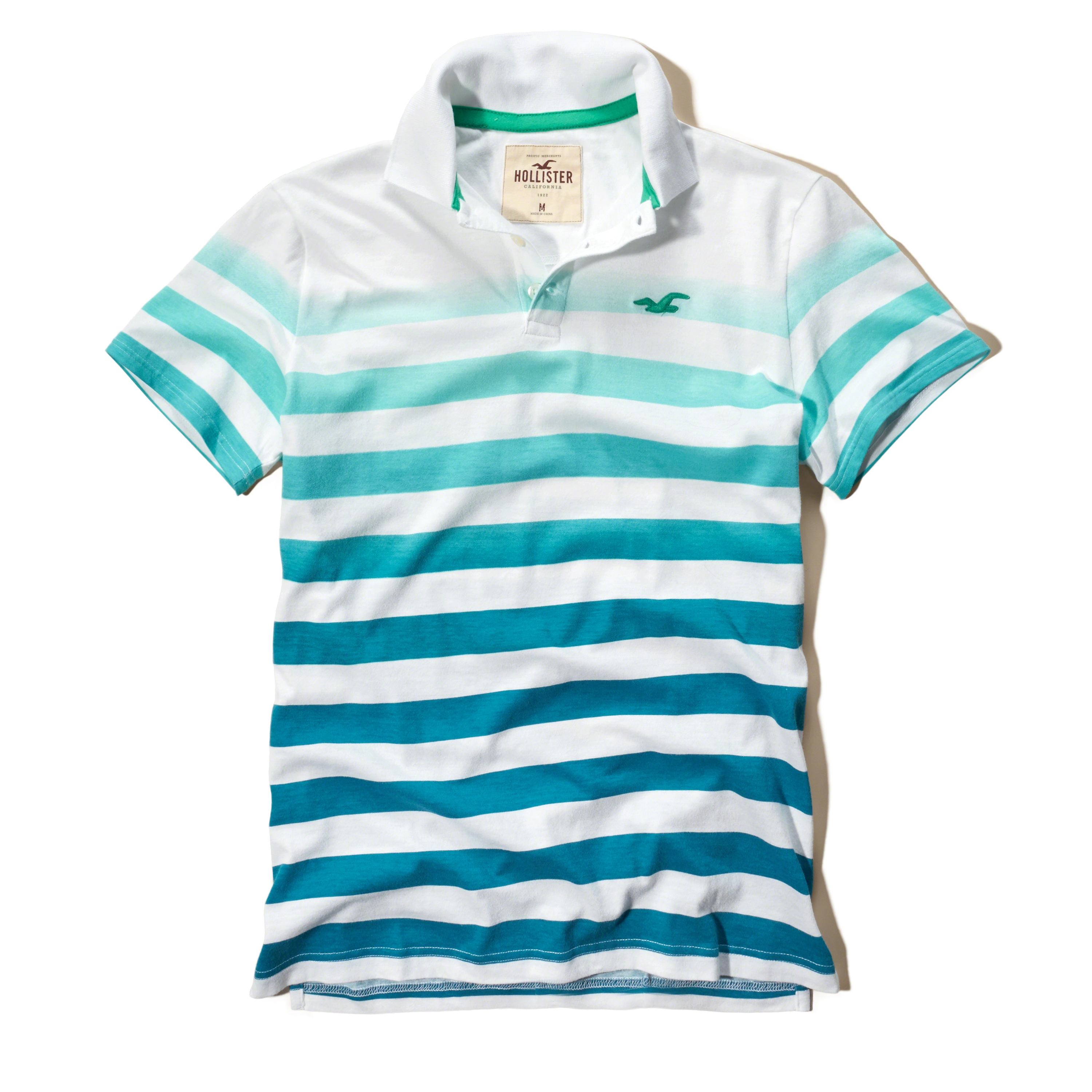 Hollister Ombre-stripe Icon Polo in Blue for Men | Lyst