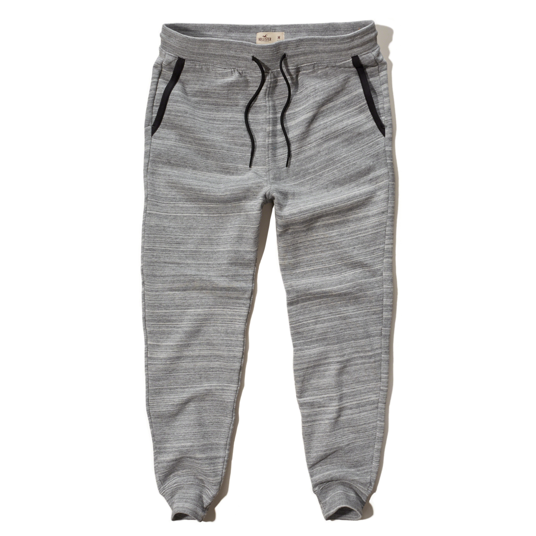 Hollister Contrast Fleece Jogger Pants in Gray for Men | Lyst