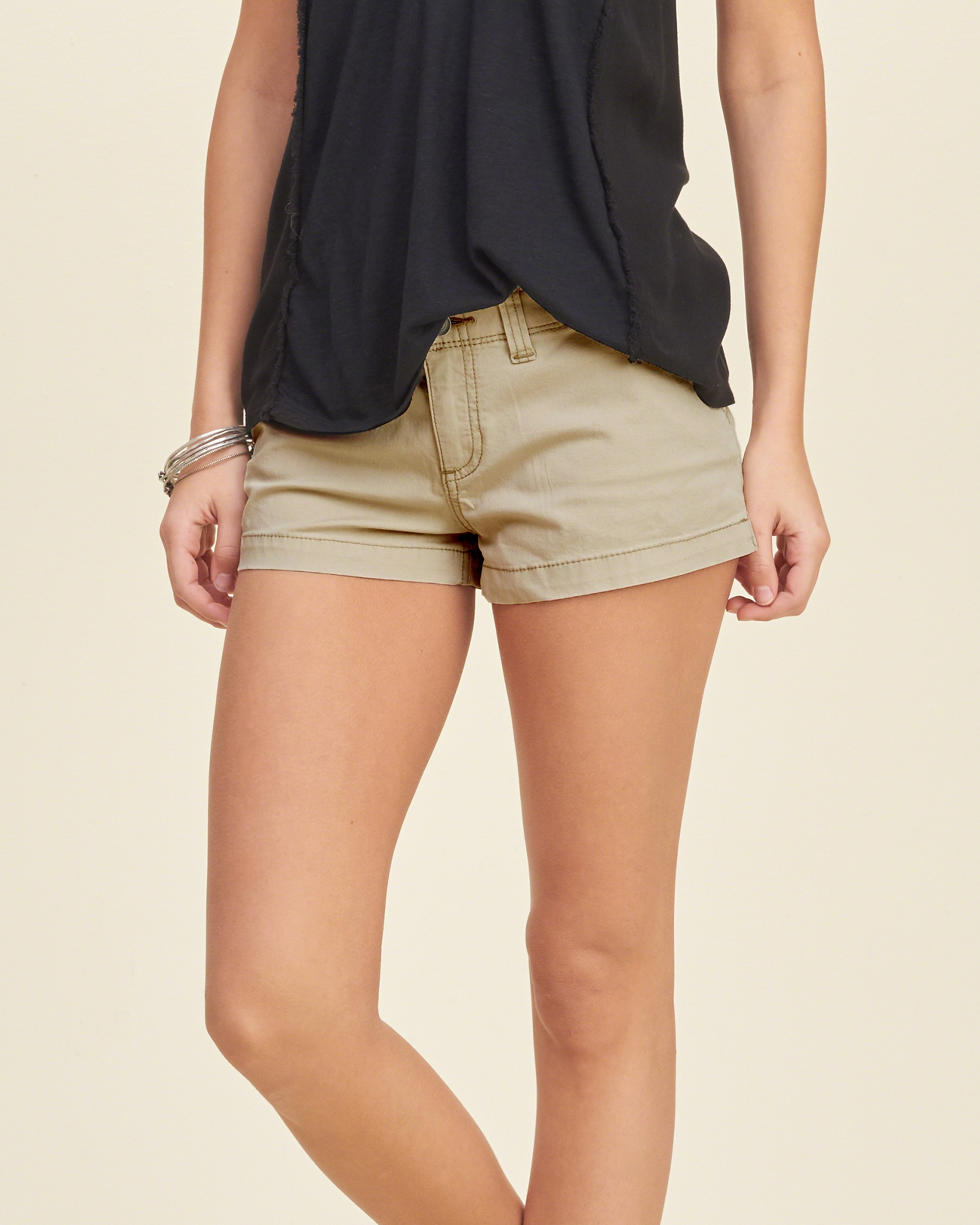 Hollister Low Rise Chino Shorts in Natural | Lyst
