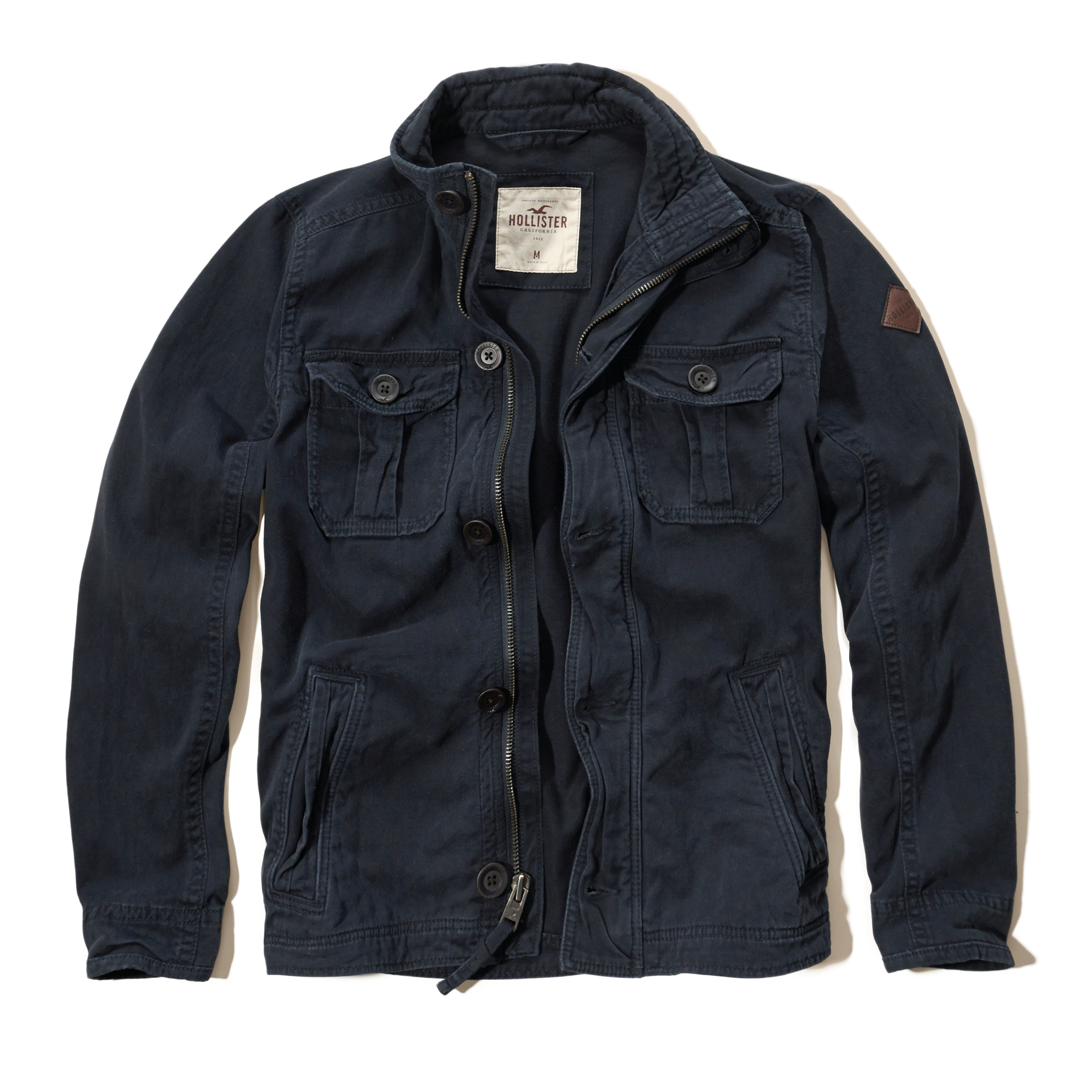Men's rugged twill bomber jacket