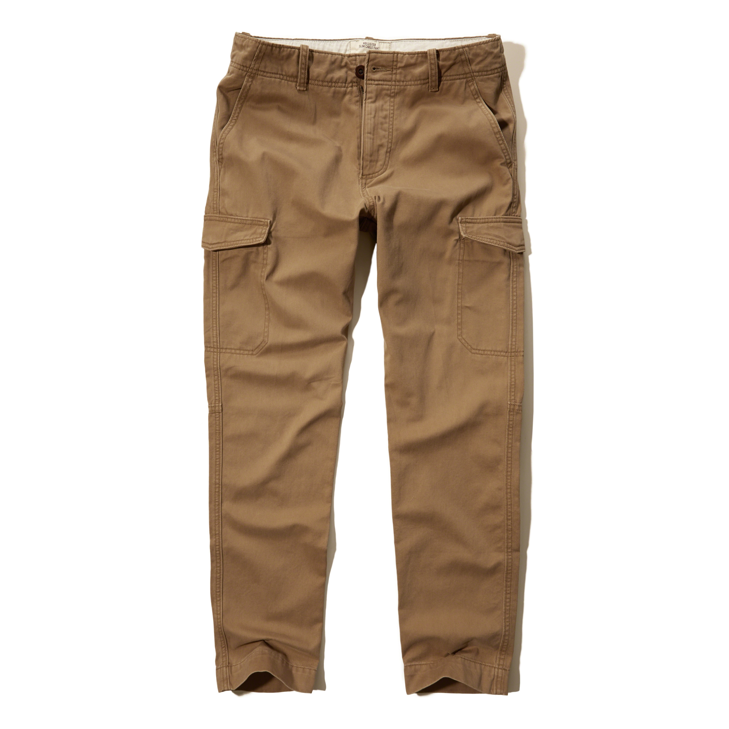 Hollister Slim Straight Cargo Pants in Natural for Men | Lyst