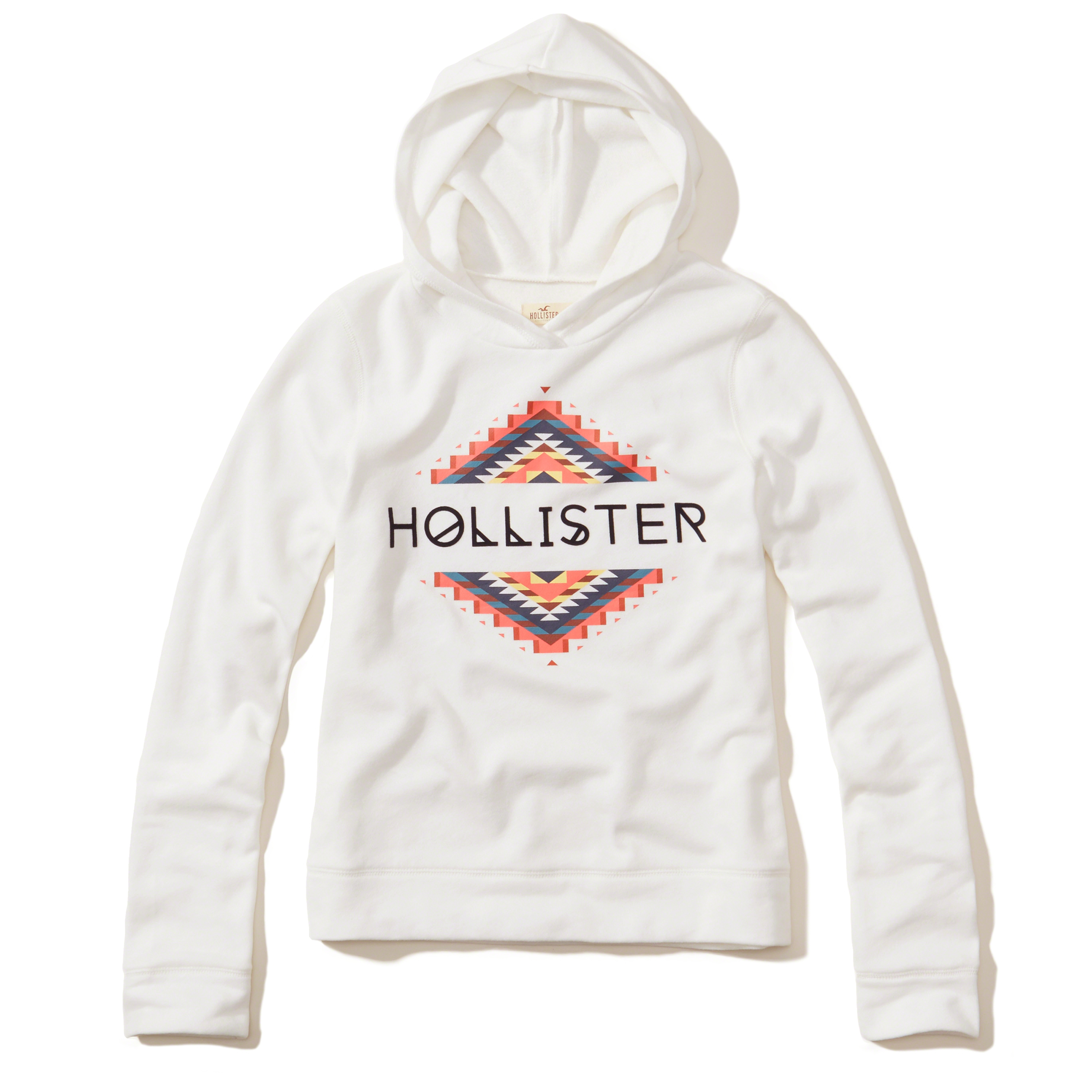 Hollister Logo Graphic Hoodie in Black | Lyst