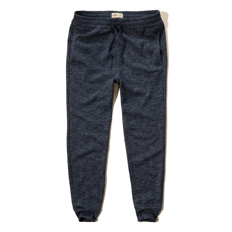 Hollister Fleece Jogger Pants in Blue for Men | Lyst
