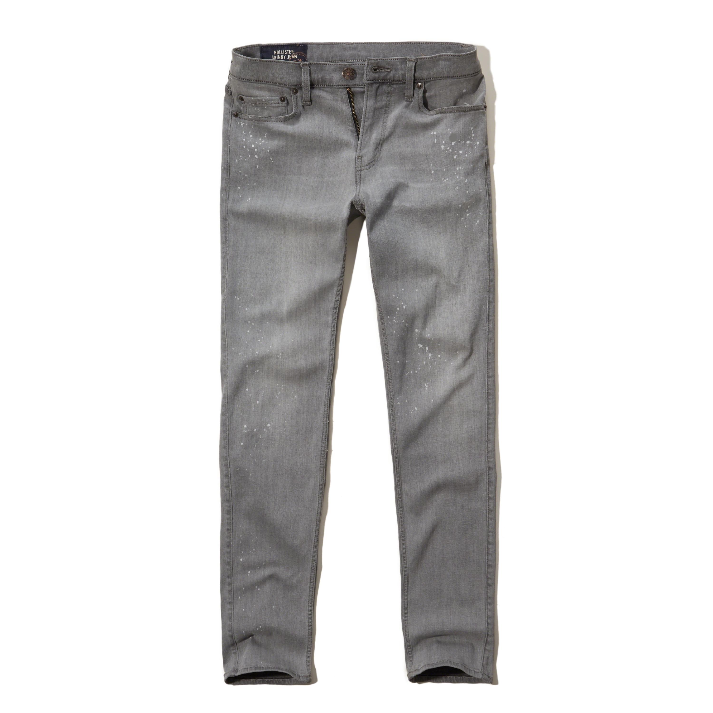 Hollister Skinny Jeans in Gray for Men   Lyst
