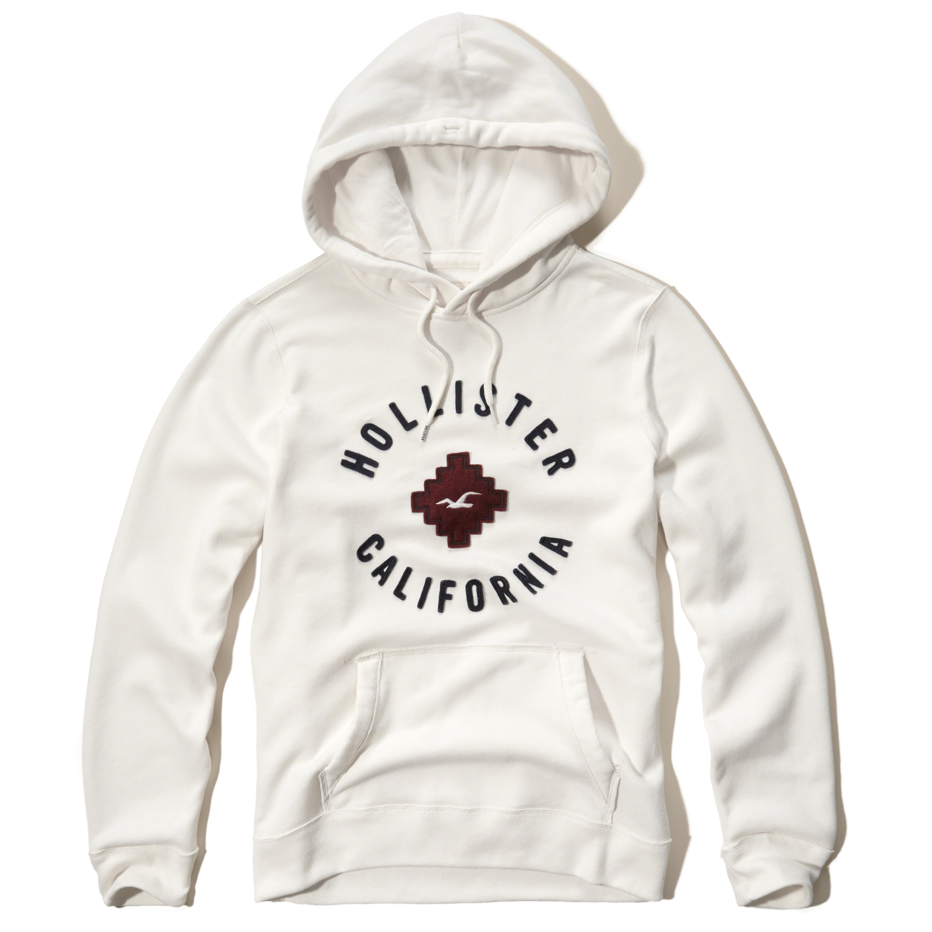 Hollister Oberbekleidung Returns Exchanges Hollister Pullover Hollister Hoodies Hollister Jeans: Hollister Logo Graphic Hoodie In White For Men