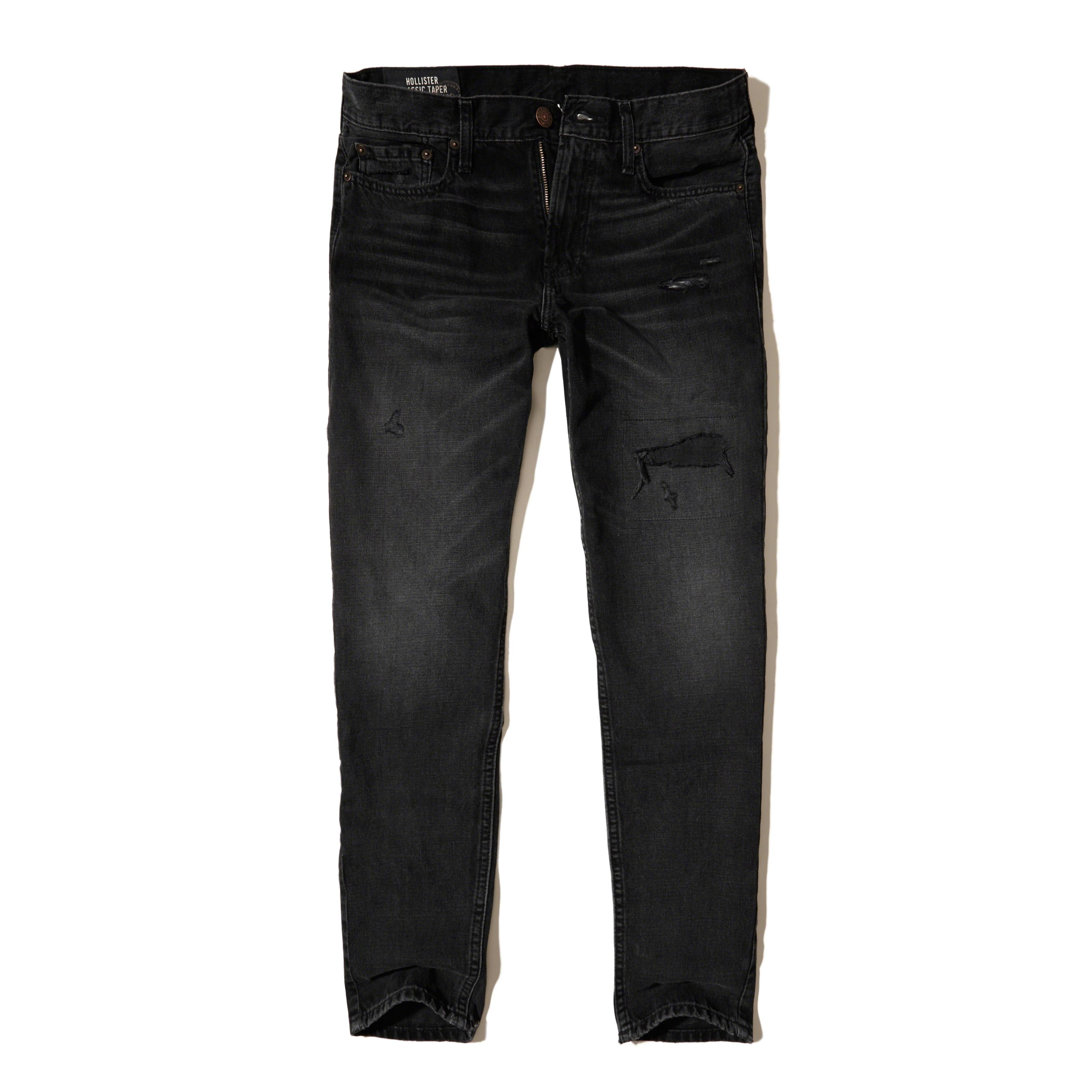 Hollister Classic Taper Jeans in Black for Men   Lyst