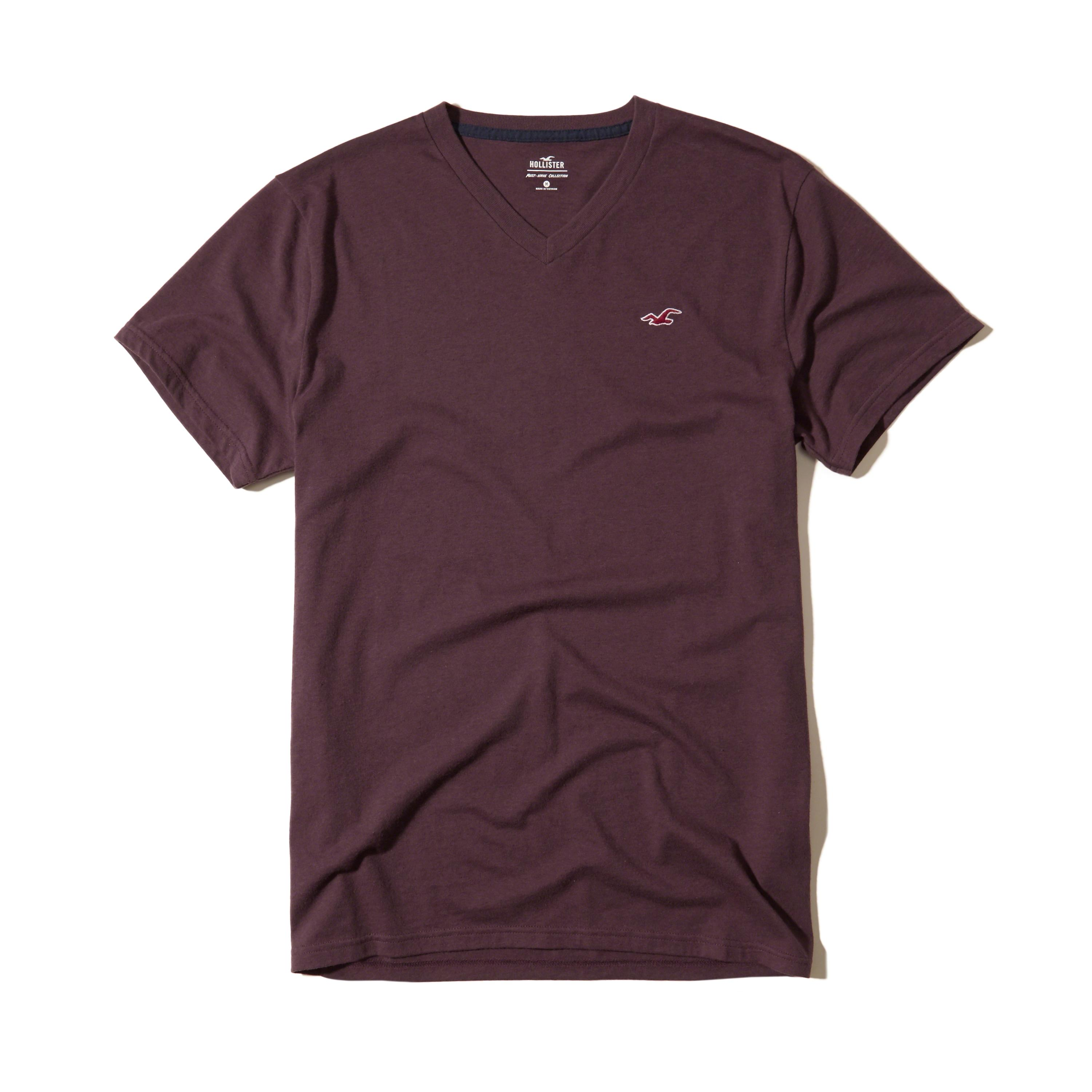 Hollister must have v neck t shirt in purple for men lyst for Must have dress shirts