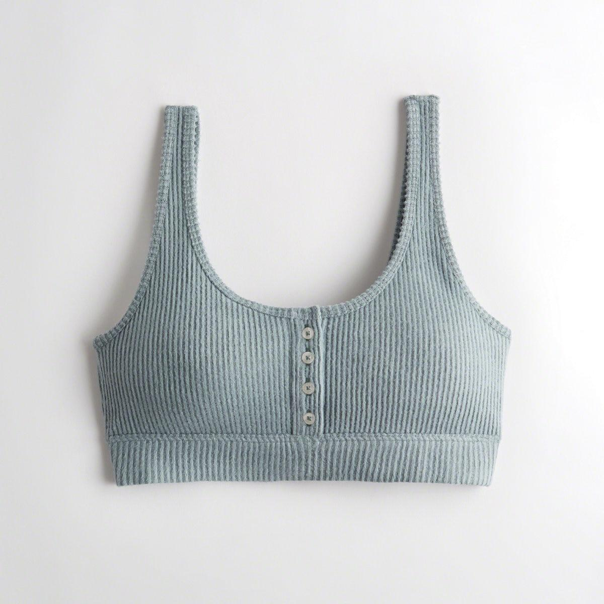 d1ca740f989 Hollister. Women s Blue Girls Dreamworthy Scoop Bralette With Removable Pads  From Hollister