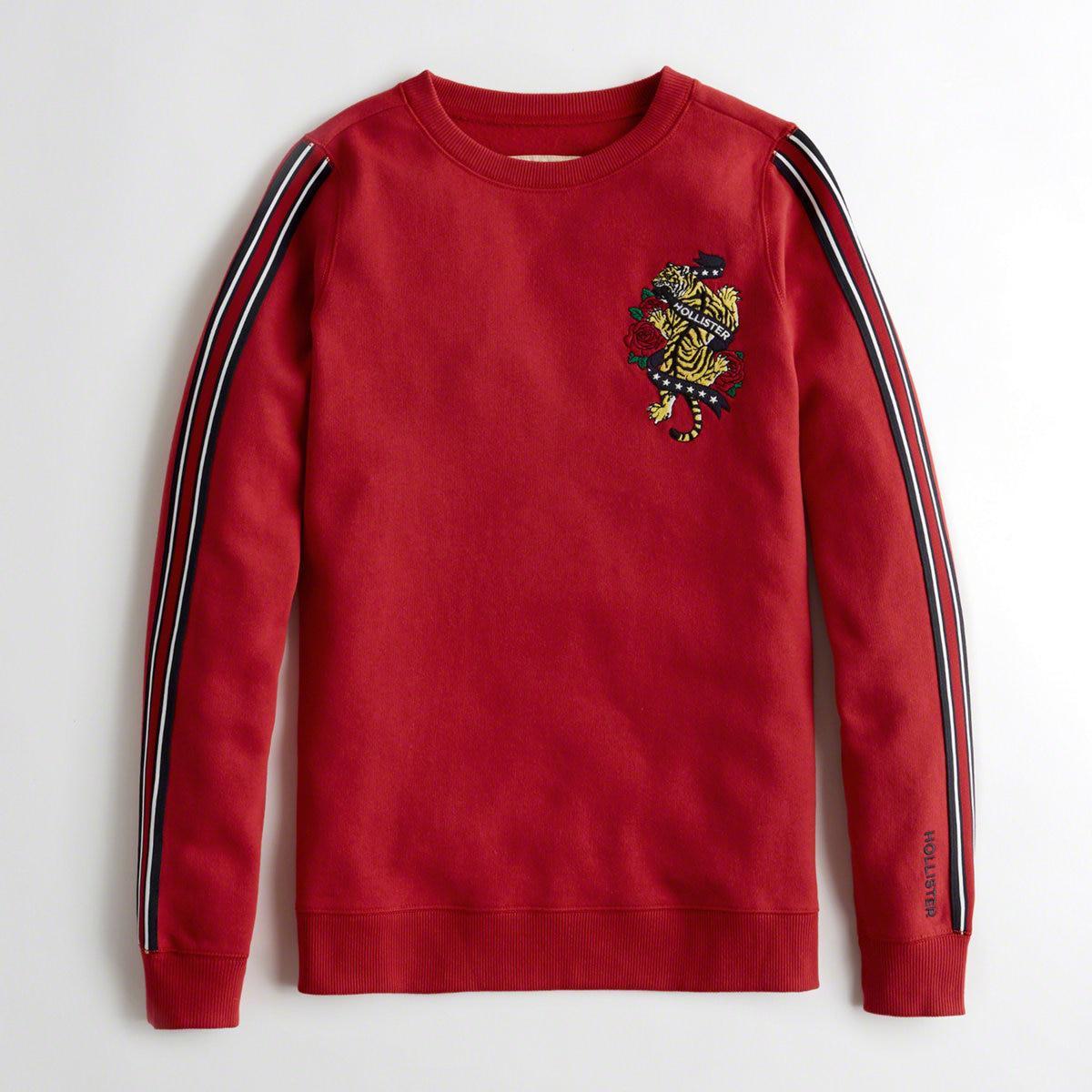 b66d18127 Hollister - Red Girls Americana Oversized Crewneck Sweatshirt From  Hollister - Lyst