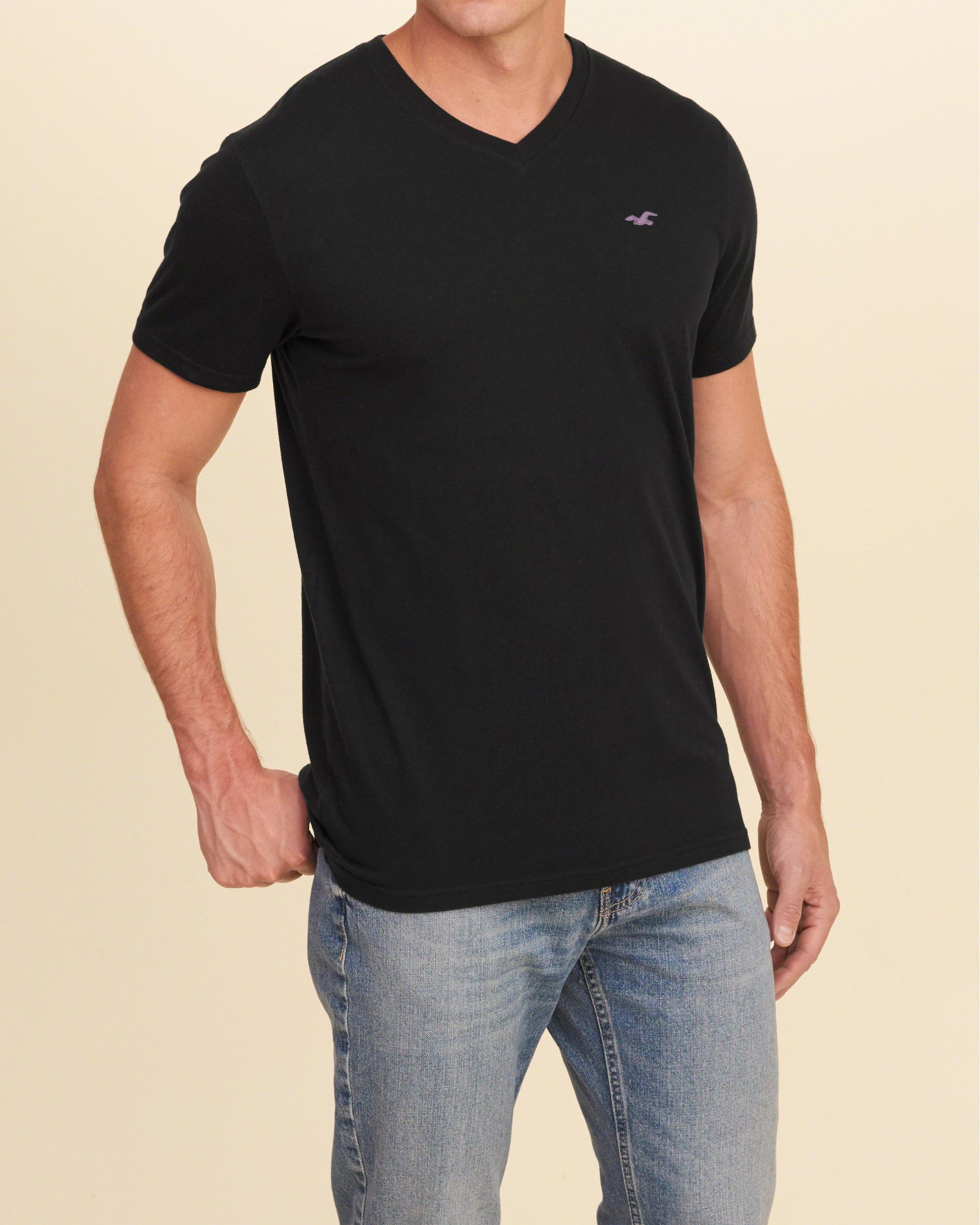 Lyst hollister must have v neck t shirt in black for men for Must have dress shirts