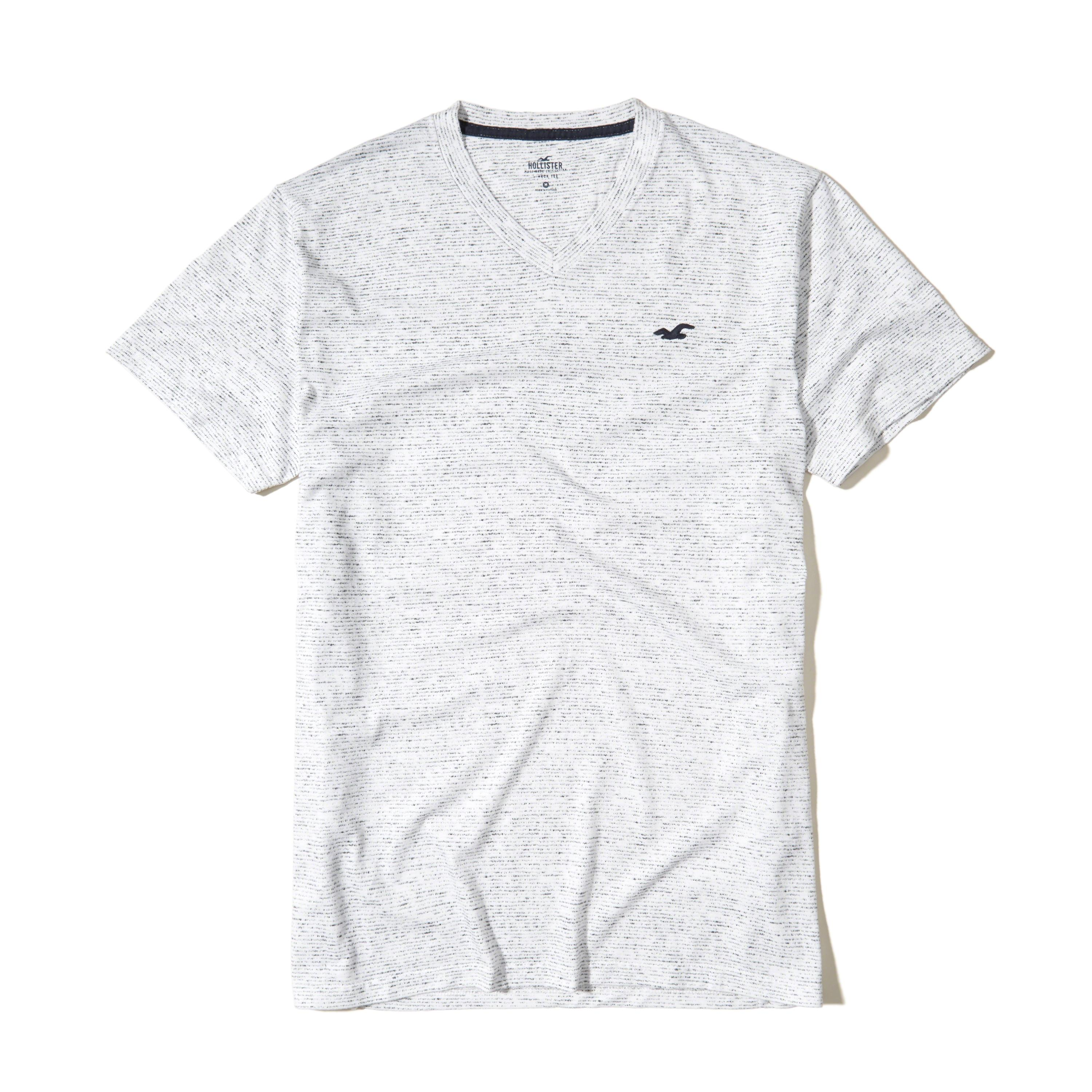 Hollister must have v neck t shirt in gray for men lyst for Must have dress shirts