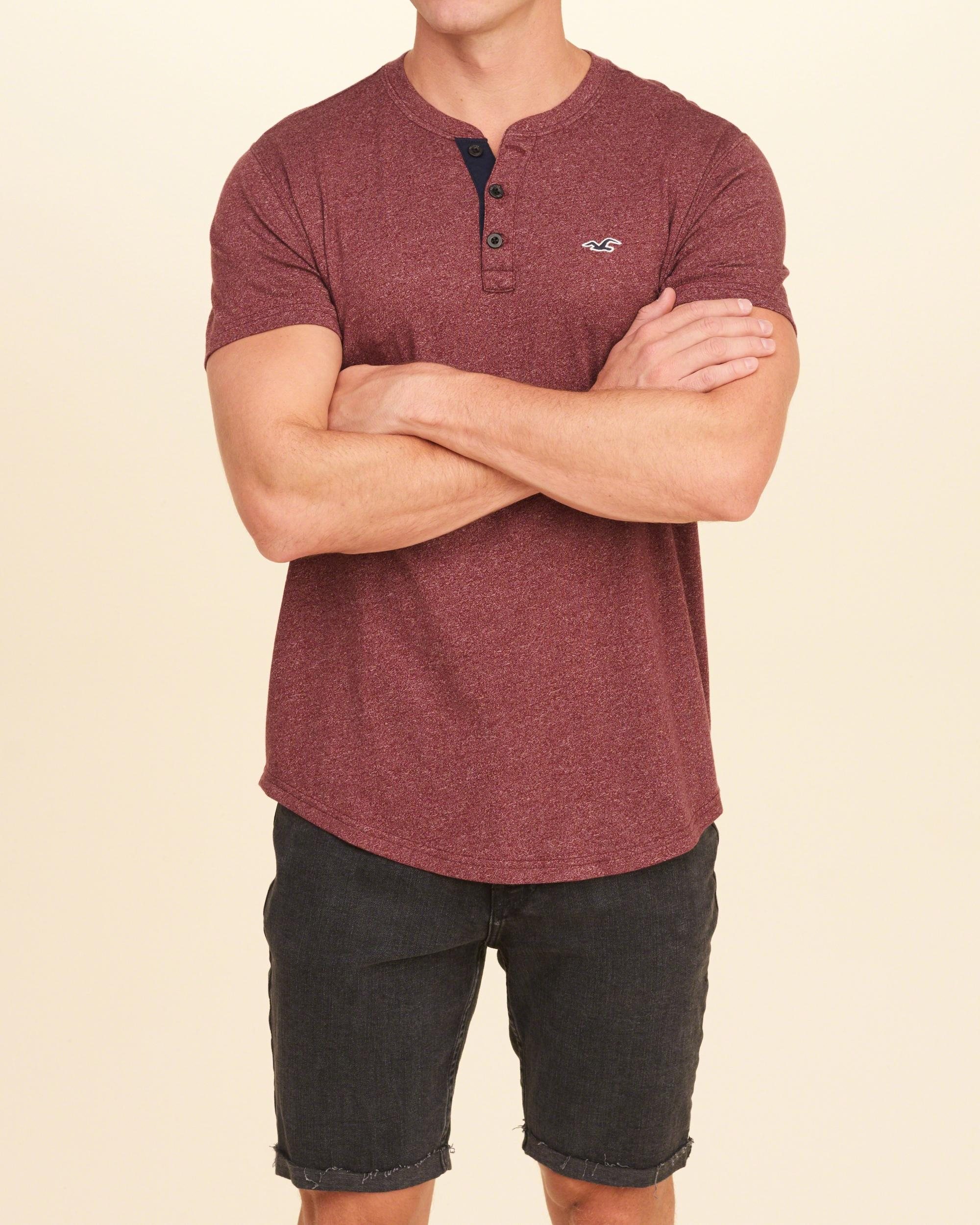 Hollister must have henley for men lyst for Must have dress shirts