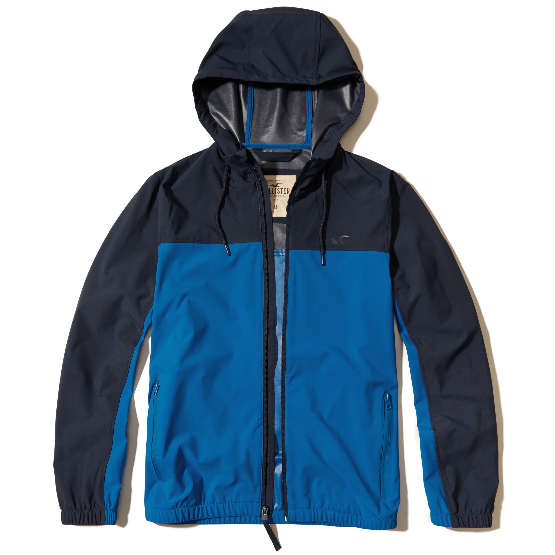Lyst - Hollister Unlined Stretch Nylon Windbreaker in Blue for Men