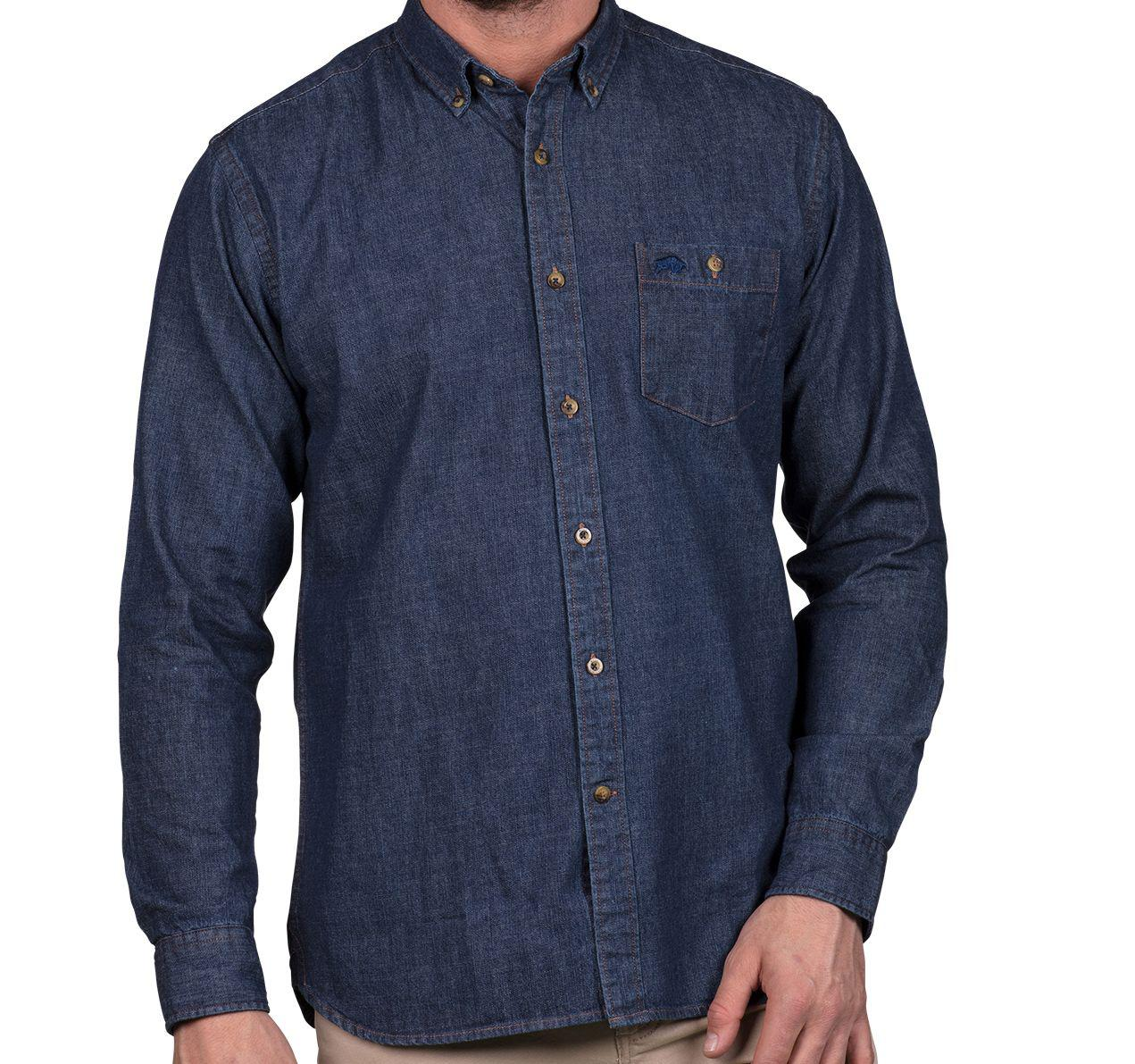 Raging Bull Men 39 S Big And Tall Chambray Shirt In Blue For
