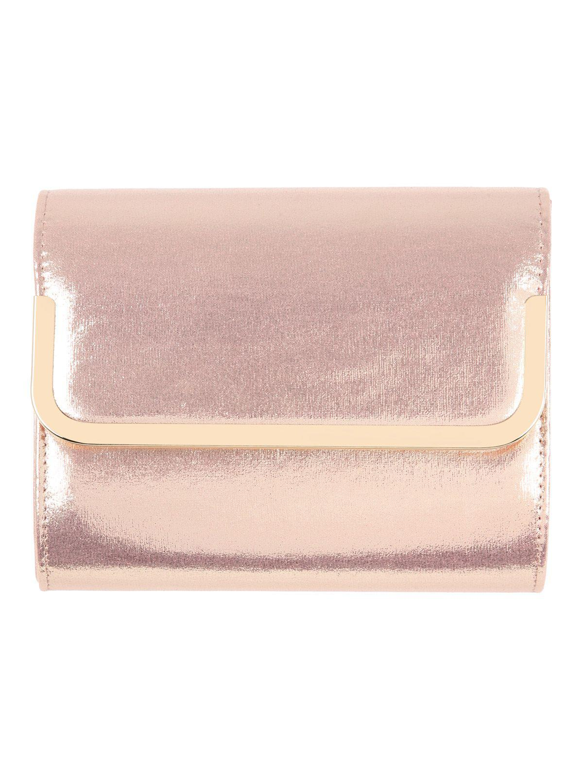 3d9b1a040be Jane Norman Gold Box Clutch Bag in Pink - Lyst