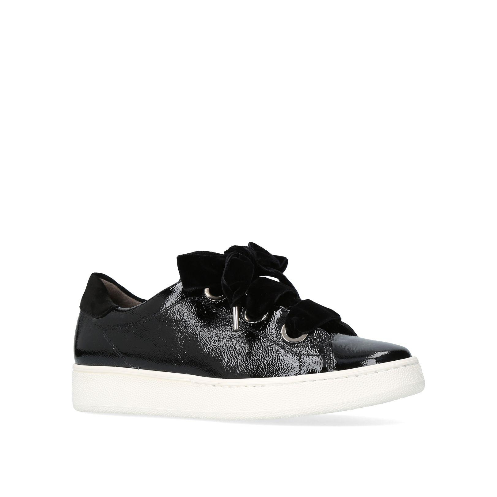 Paul Green. Women's Black Nicola Lace Up Trainers